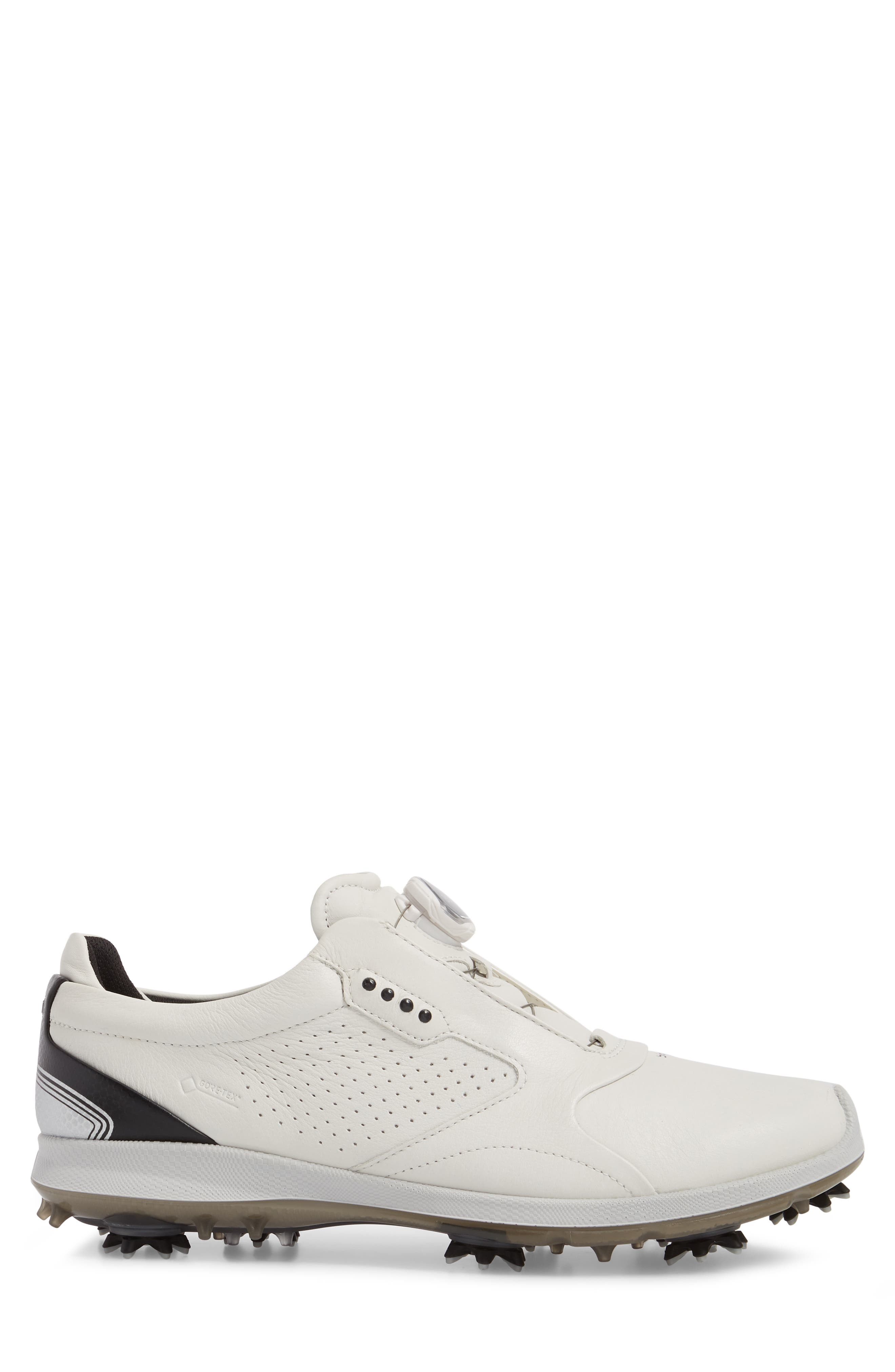 BIOM 2 BOA Gore-Tex<sup>®</sup> Golf Shoe,                             Alternate thumbnail 3, color,                             WHITE/ BLACK LEATHER