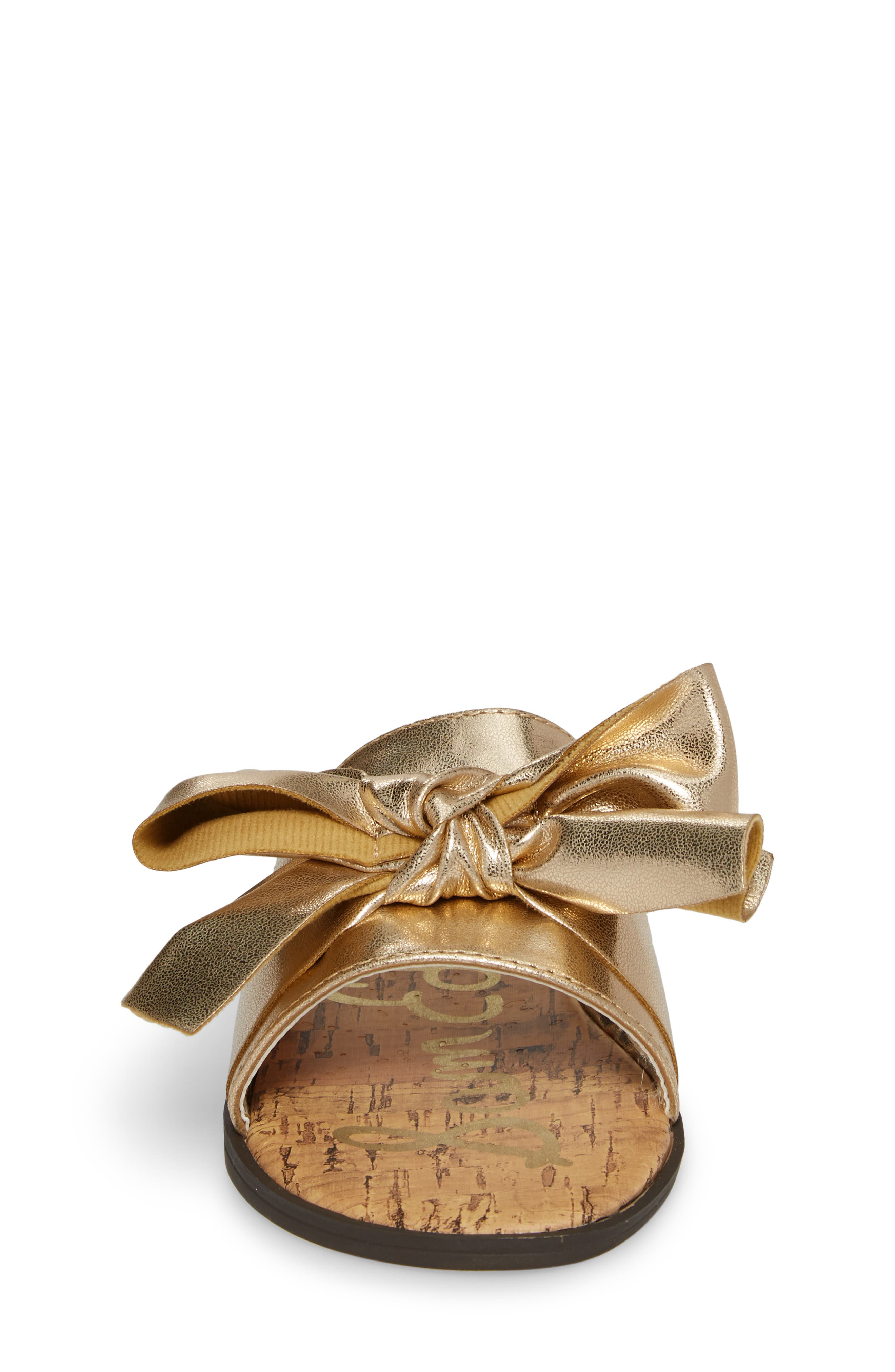 Gigi Bow Faux Leather Sandal,                             Alternate thumbnail 12, color,