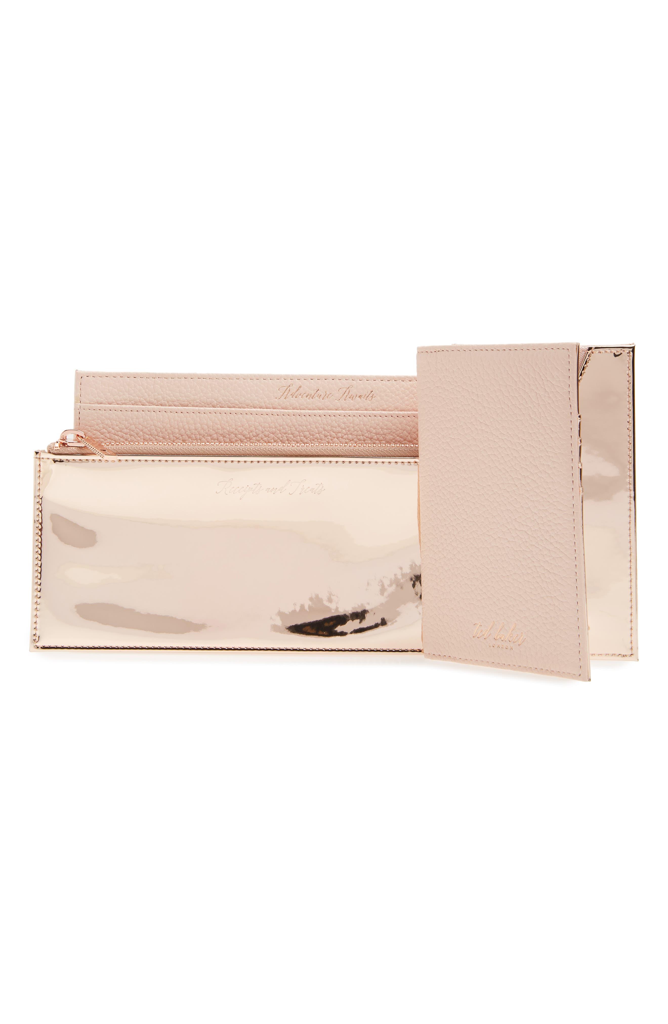 Kayy Metallic Leather Travel Wallet,                             Alternate thumbnail 6, color,