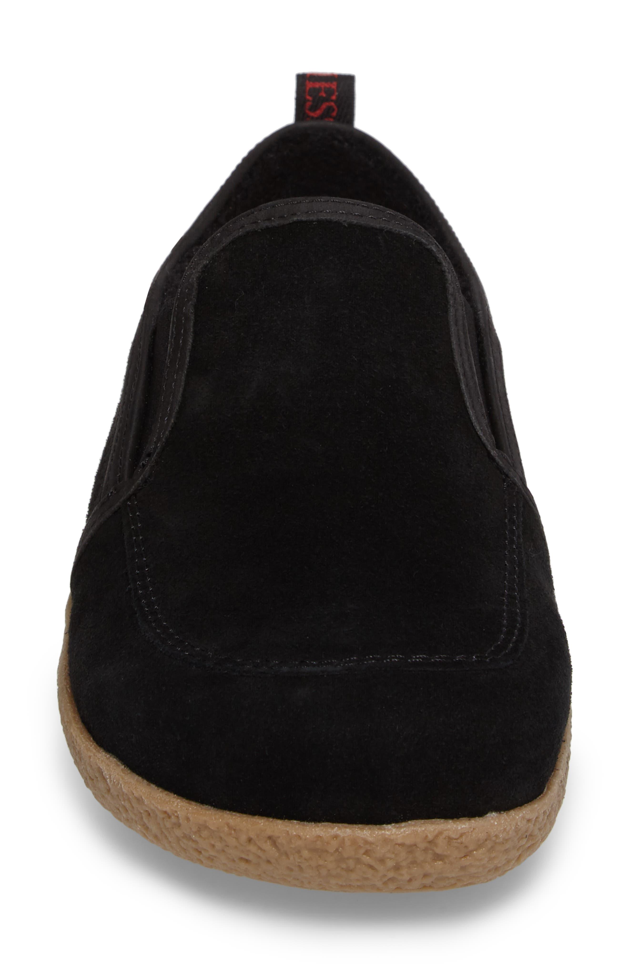 Alpen Loafer,                             Alternate thumbnail 4, color,                             BLACK WOOL