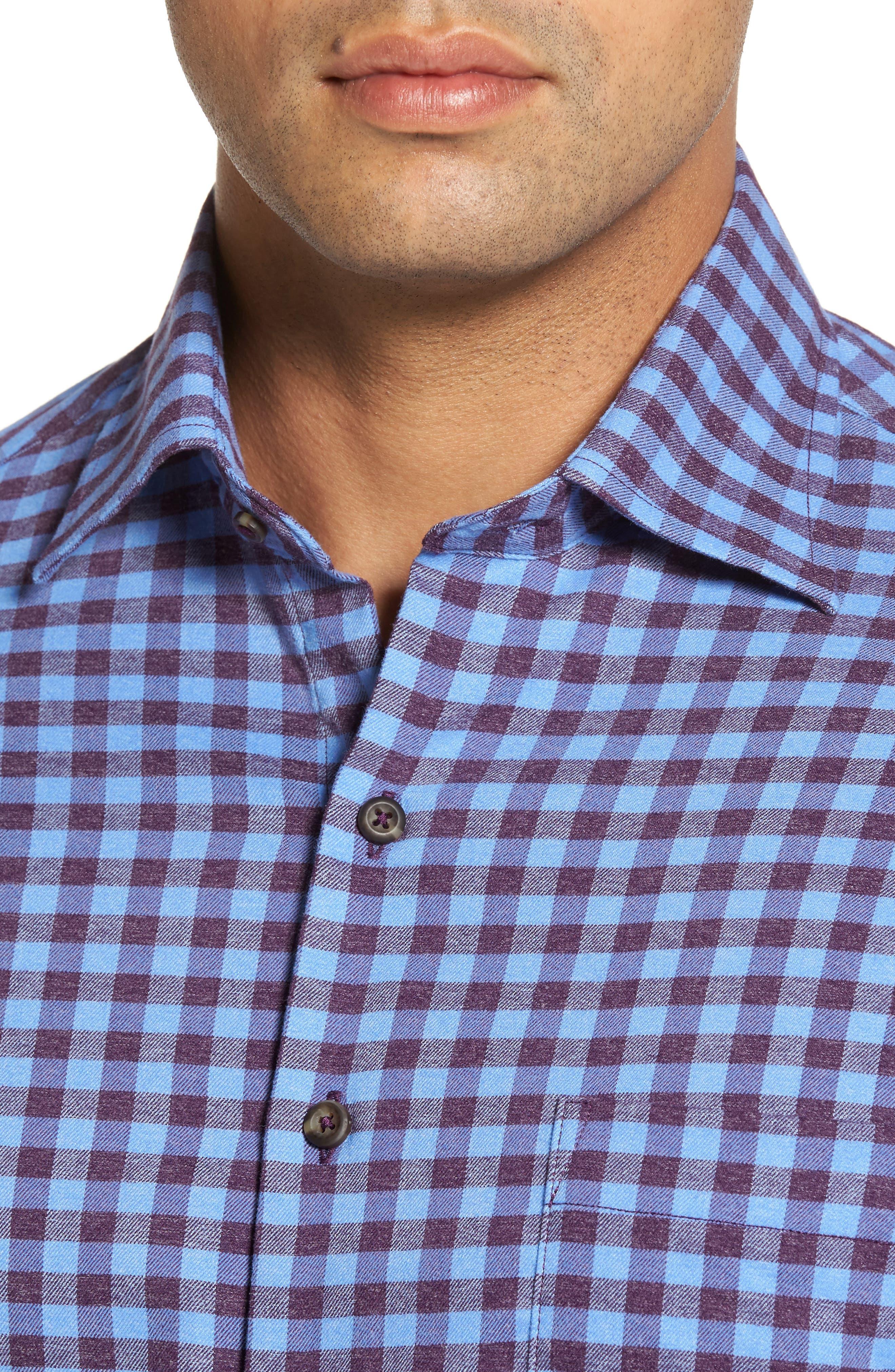 Vedder Gingham Regular Fit Performance Sport Shirt,                             Alternate thumbnail 12, color,