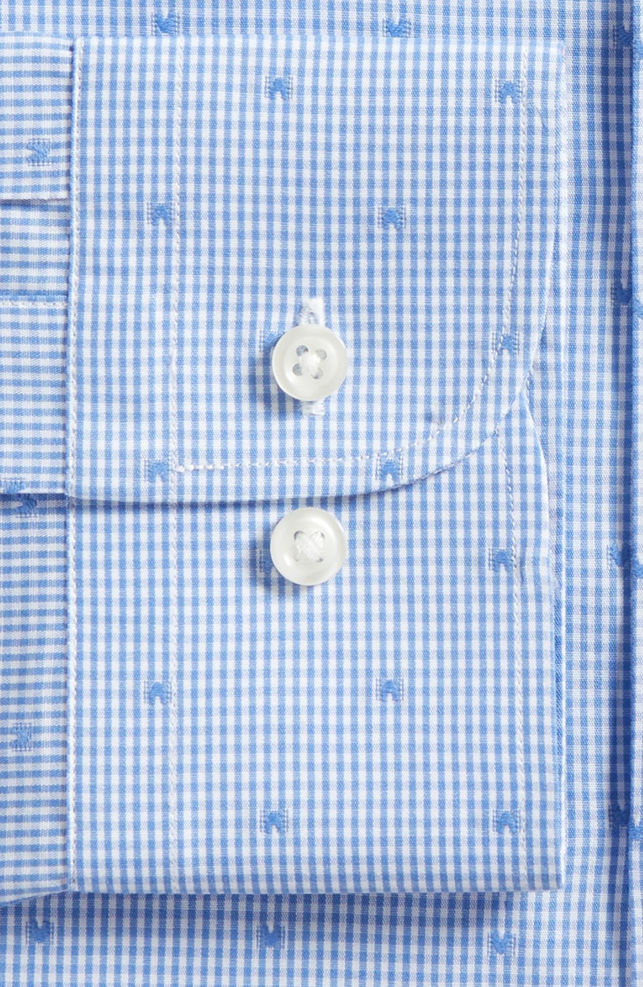 Trim Fit Check Dress Shirt,                             Alternate thumbnail 6, color,                             420