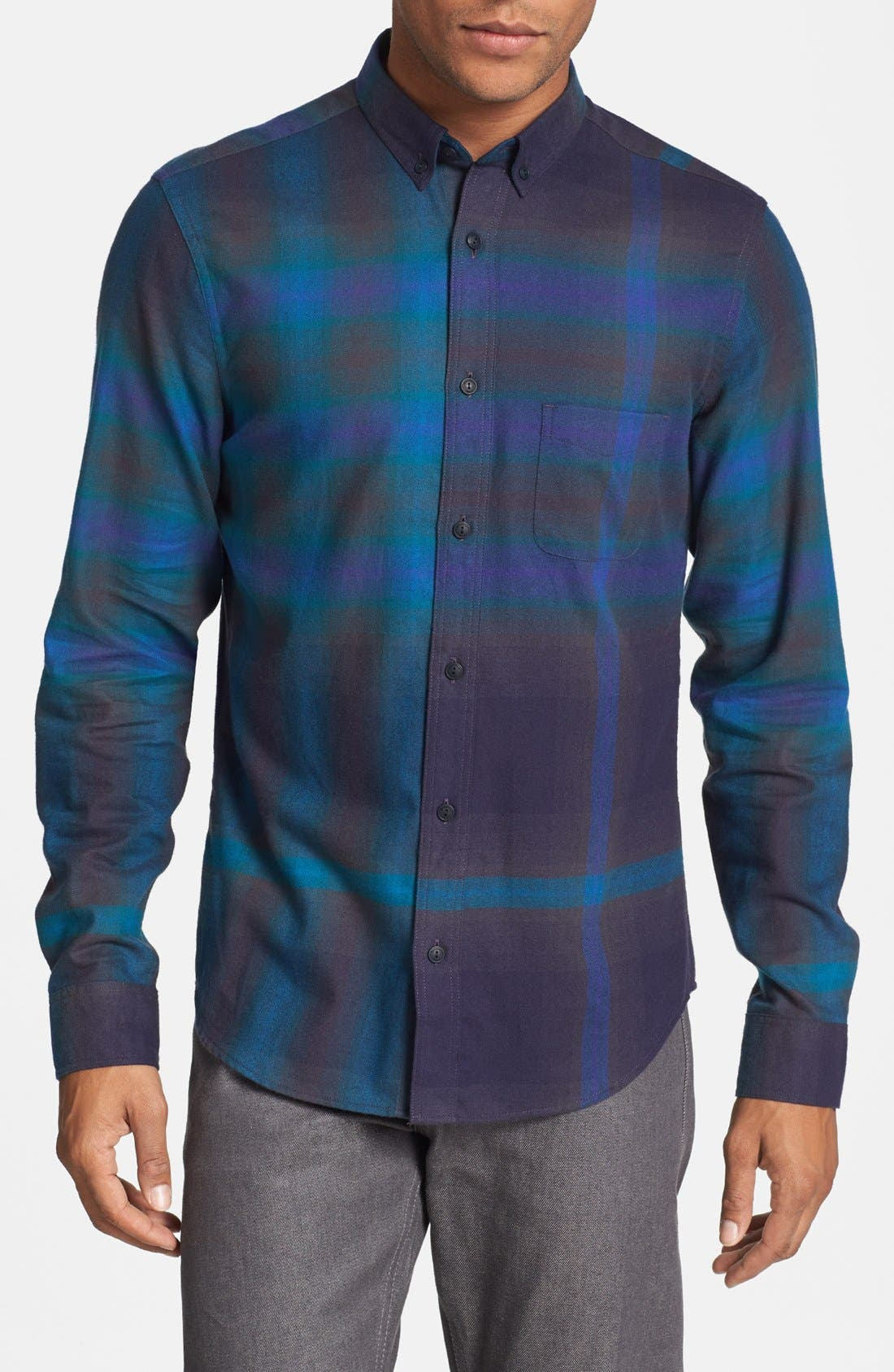 Brit 'Adken' Check Sport Shirt,                         Main,                         color, 412