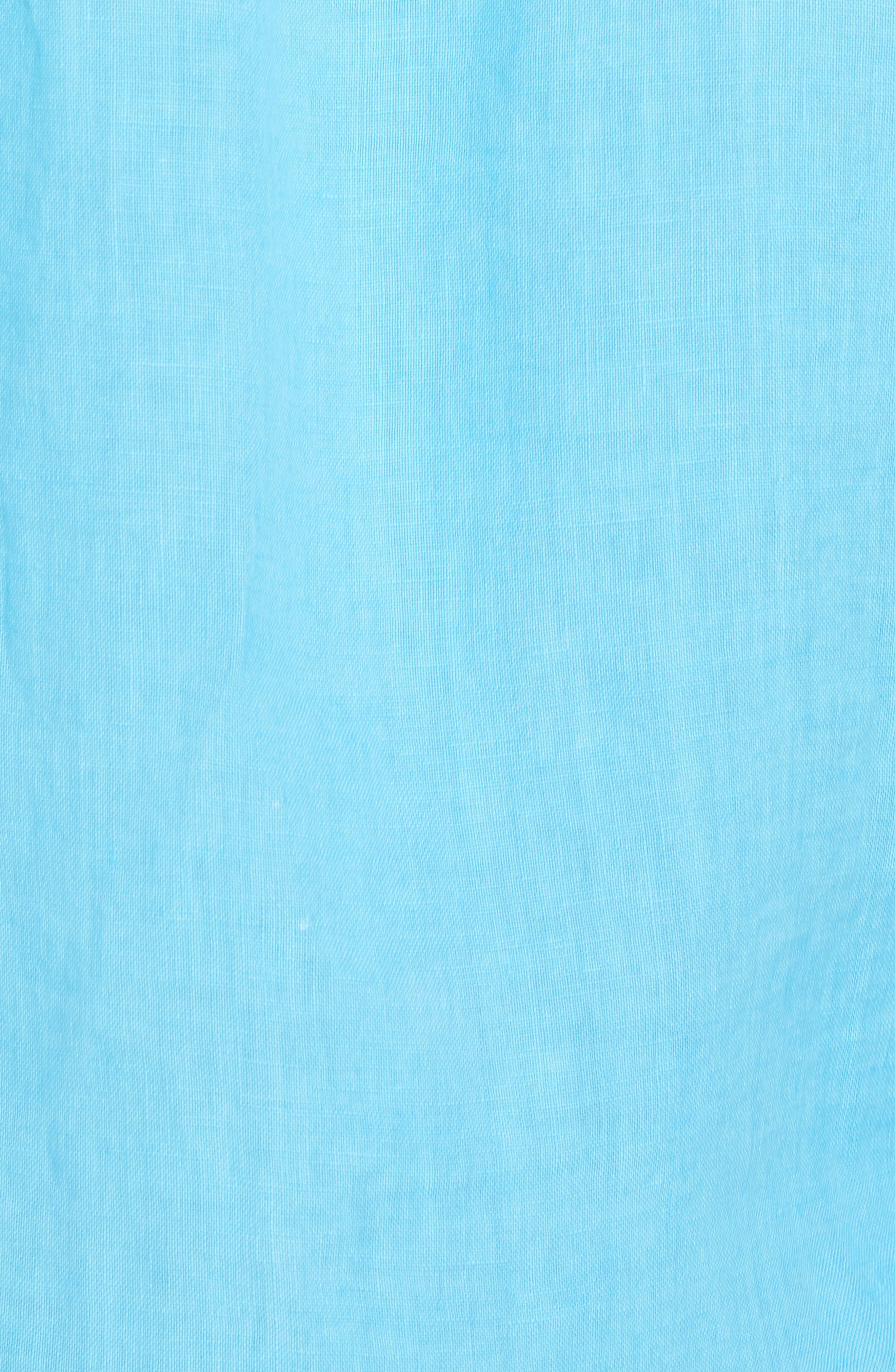 Seaspray Breezer Standard Fit Linen Sport Shirt,                             Alternate thumbnail 5, color,                             POOL PARTY BLUE