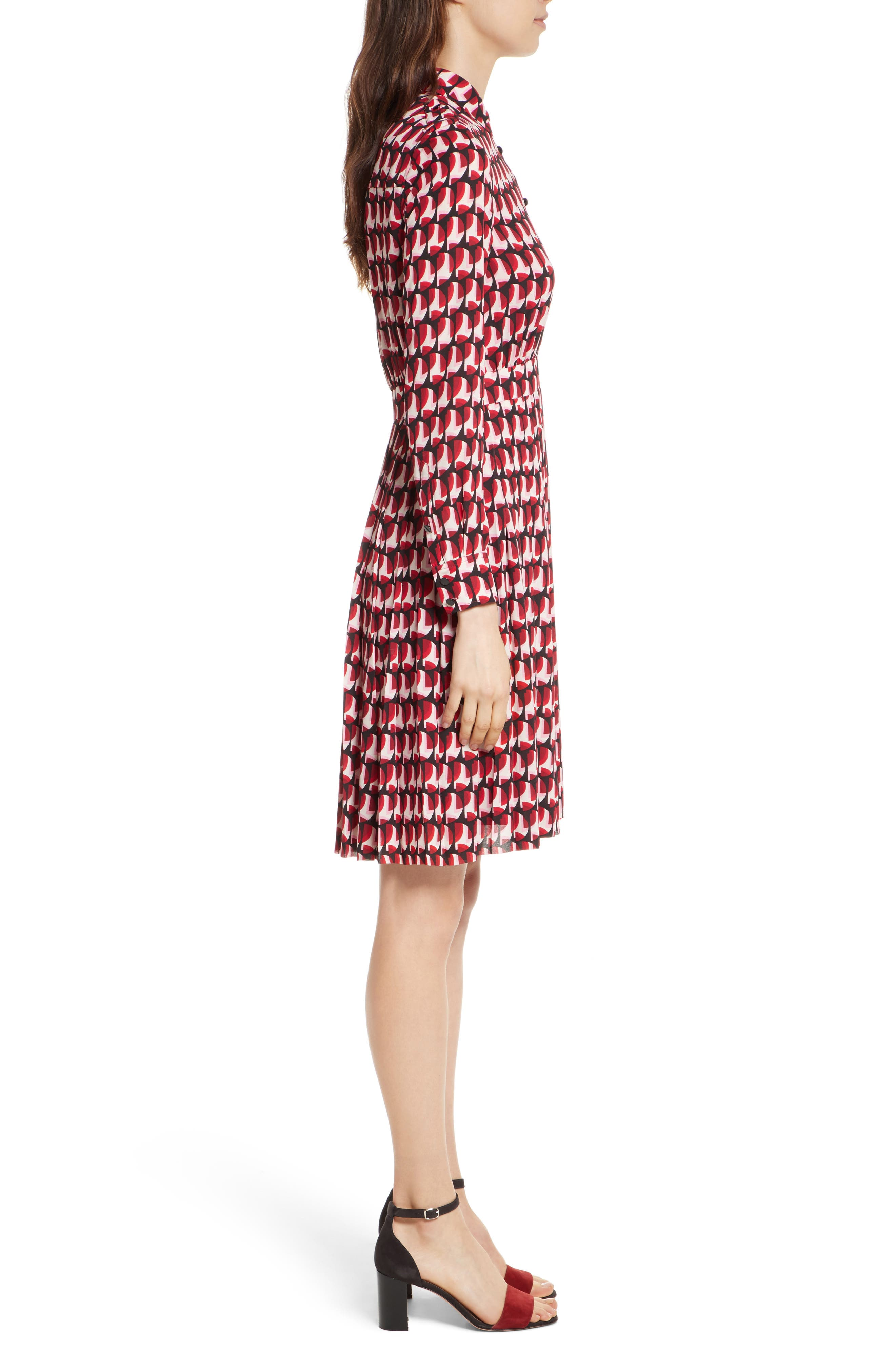 crescent shirtdress,                             Alternate thumbnail 3, color,                             672