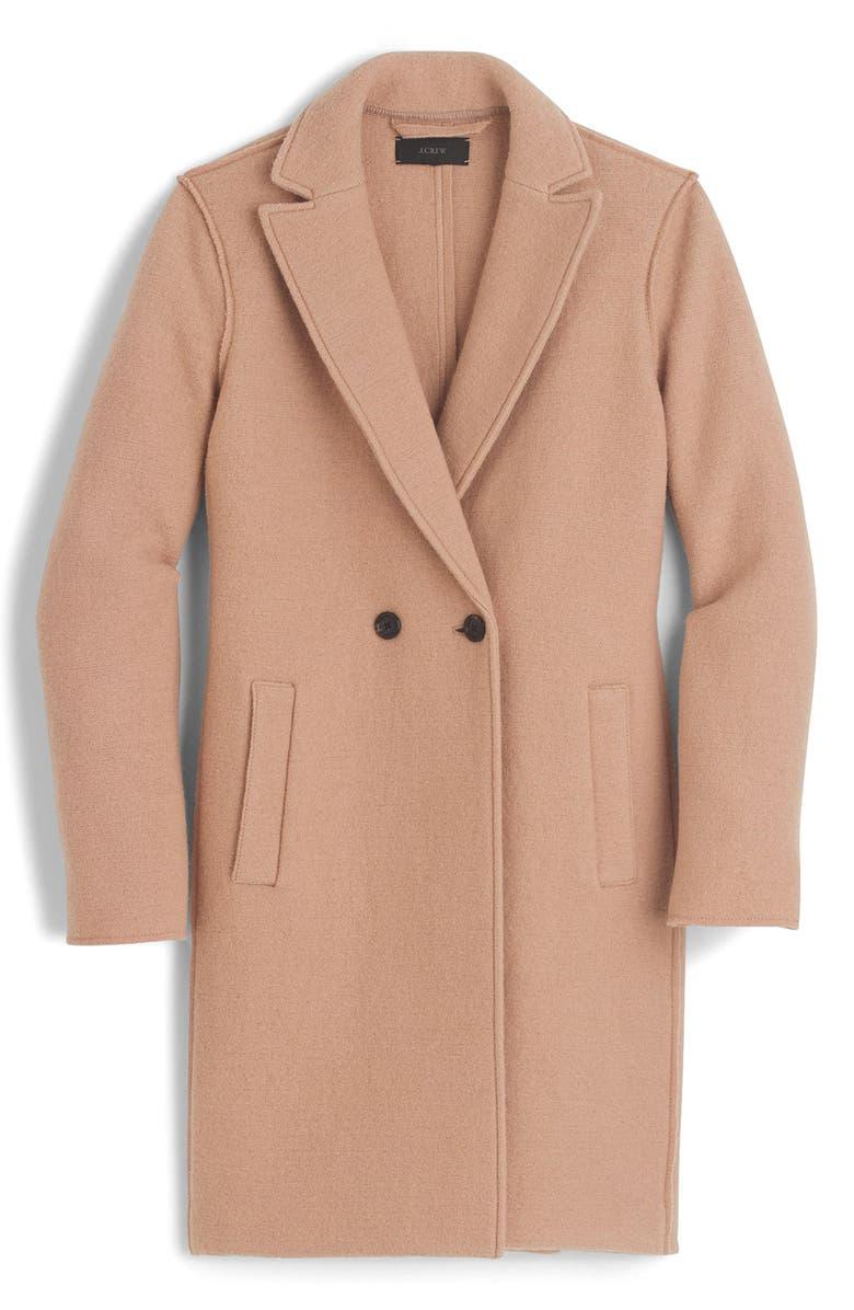 132cfd3f3ae J.Crew Daphne Boiled Wool Topcoat (Regular   Petite)
