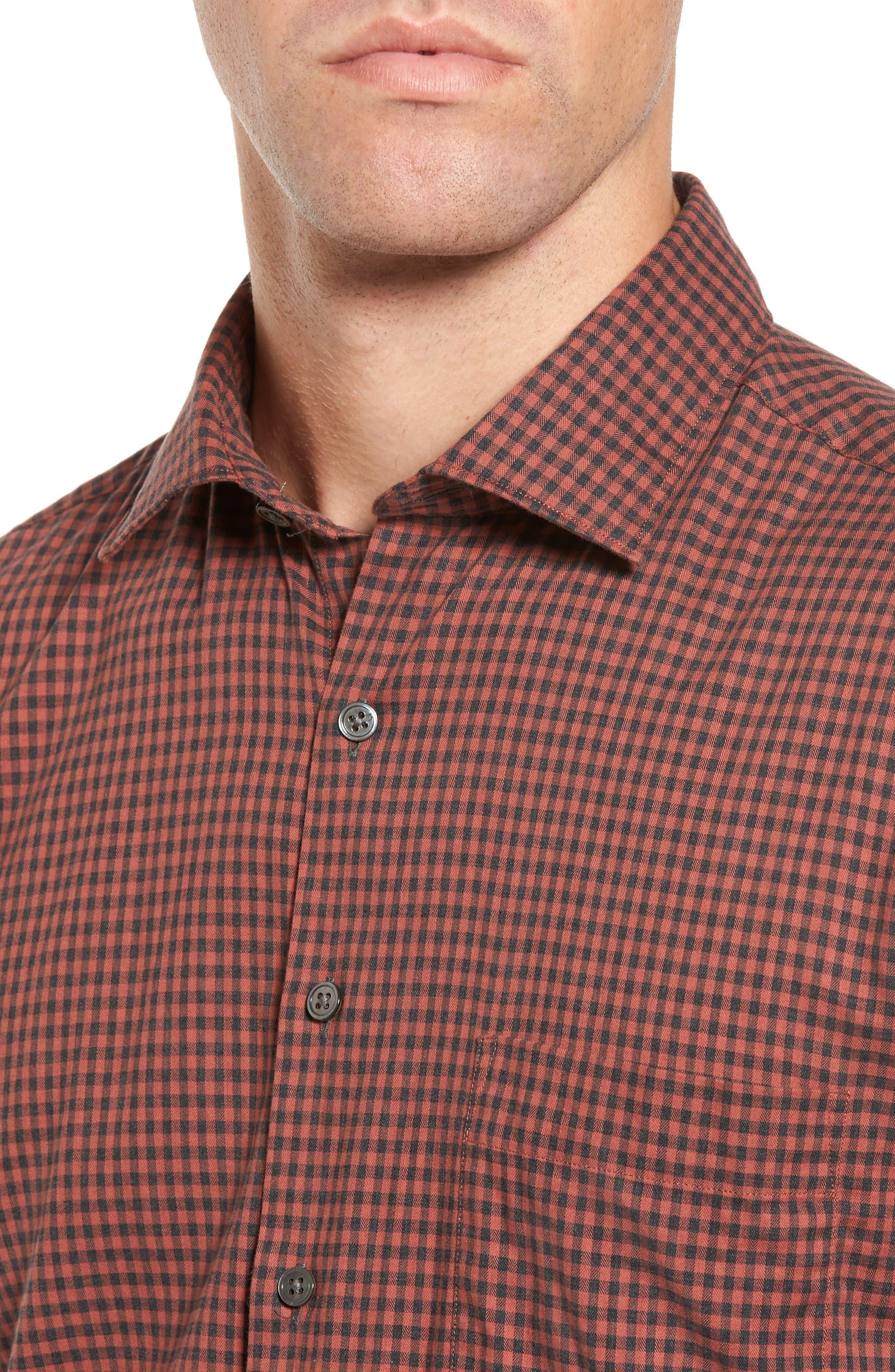 Halls Corner Check Sport Shirt,                             Alternate thumbnail 4, color,                             633