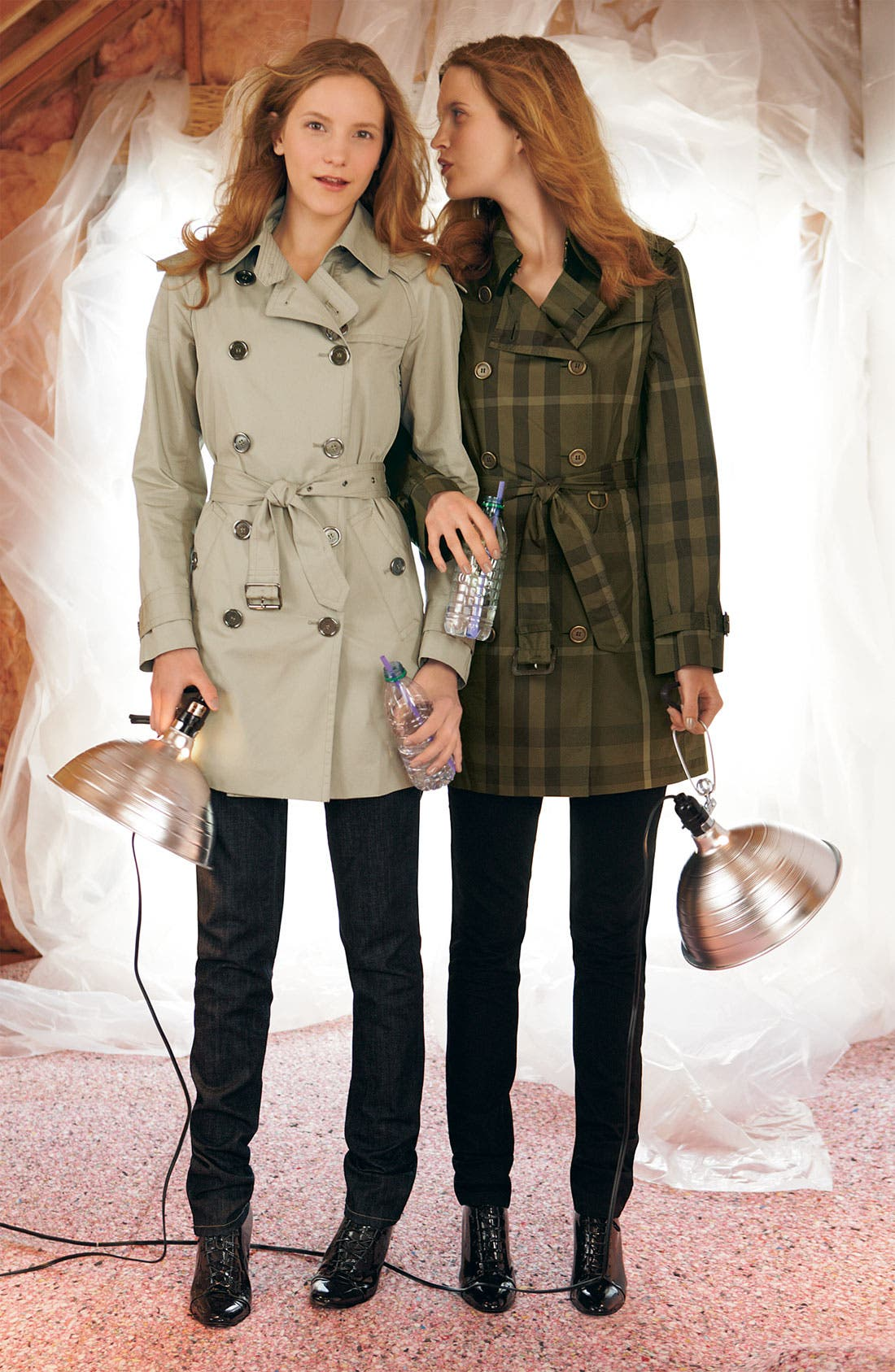Giant Check Print Packable Trench Coat,                             Alternate thumbnail 2, color,                             261