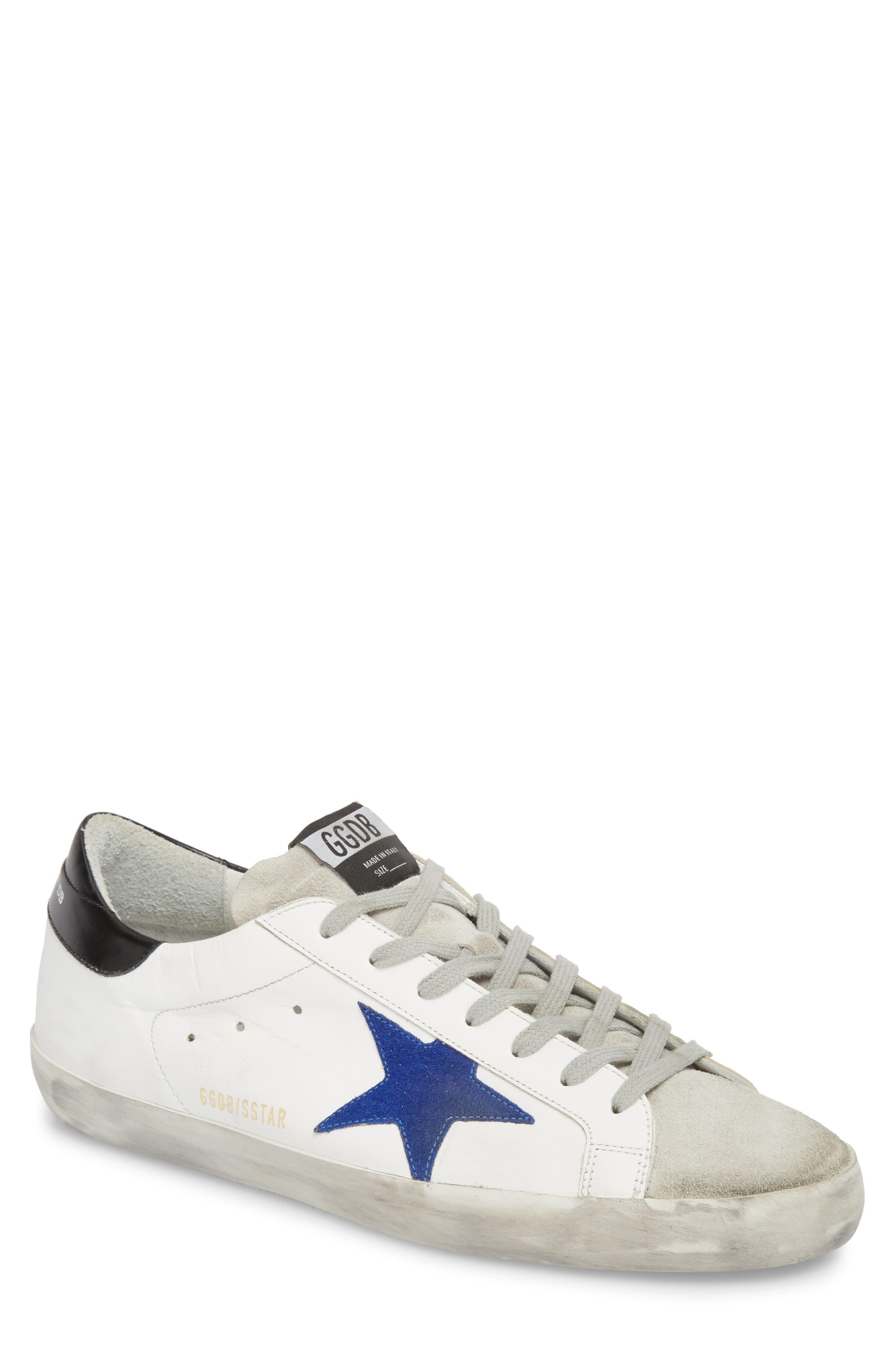 'Superstar' Sneaker,                             Main thumbnail 1, color,                             WHITE-BLUE-BLACK