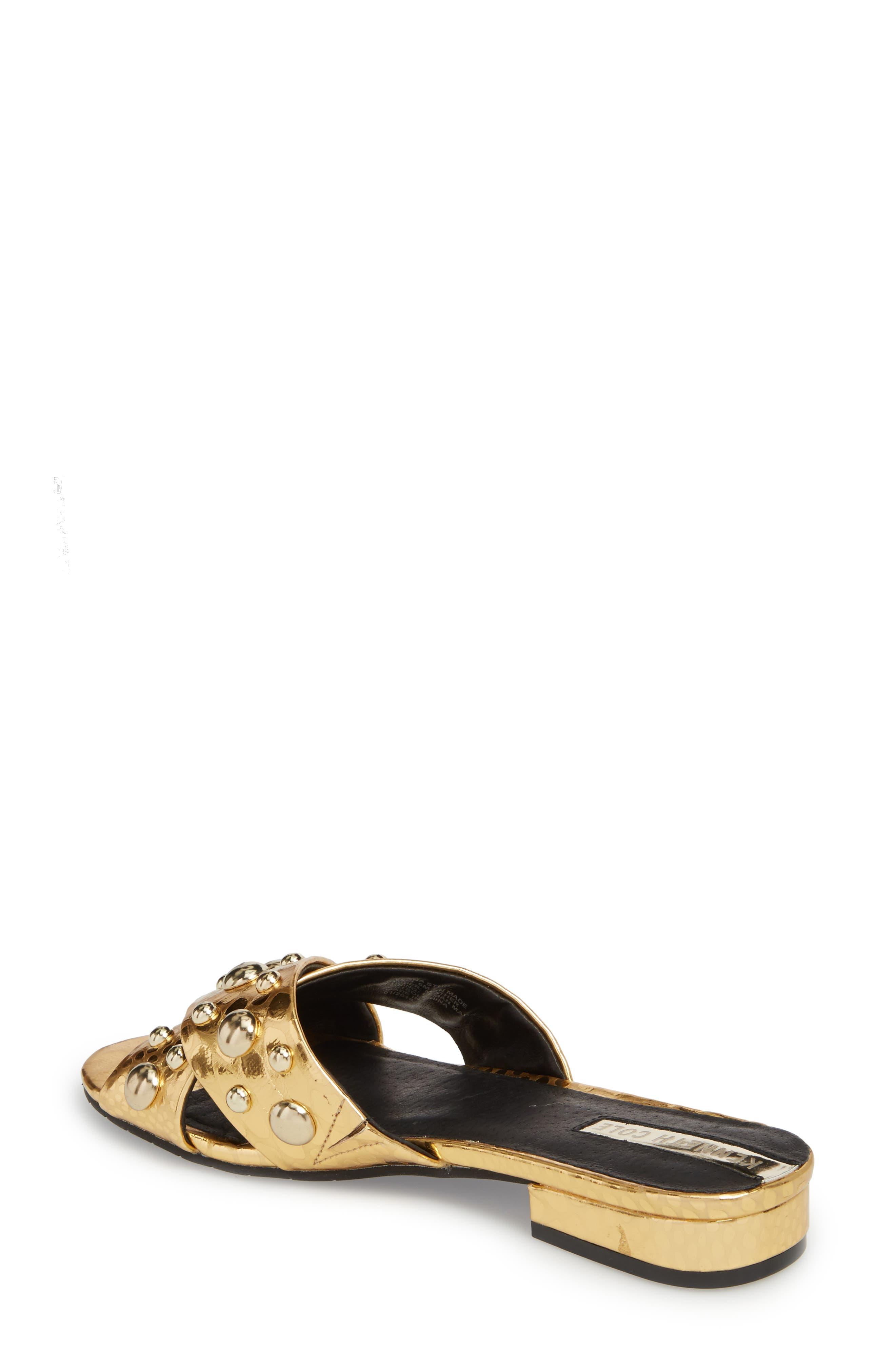 Verna Studded Slide Sandal,                             Alternate thumbnail 6, color,
