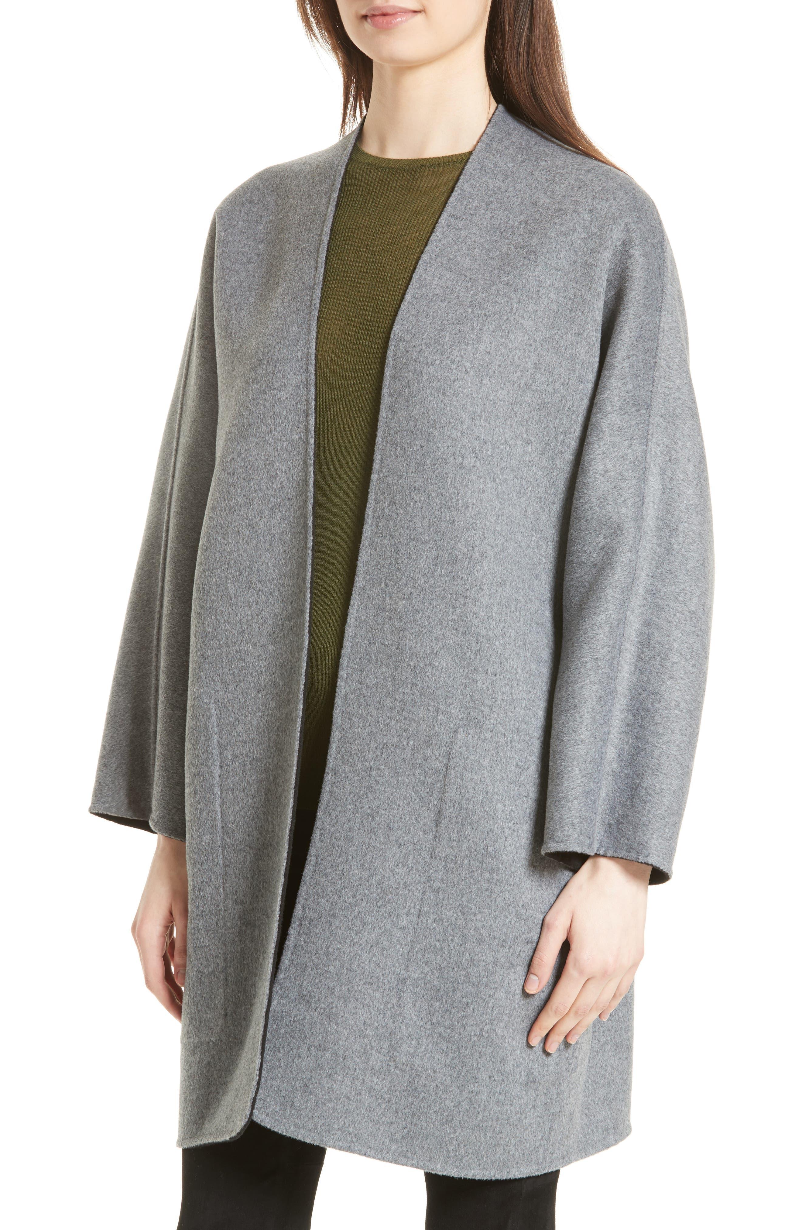 Reversible Wool & Cashmere Clutch Coat,                             Alternate thumbnail 2, color,                             006