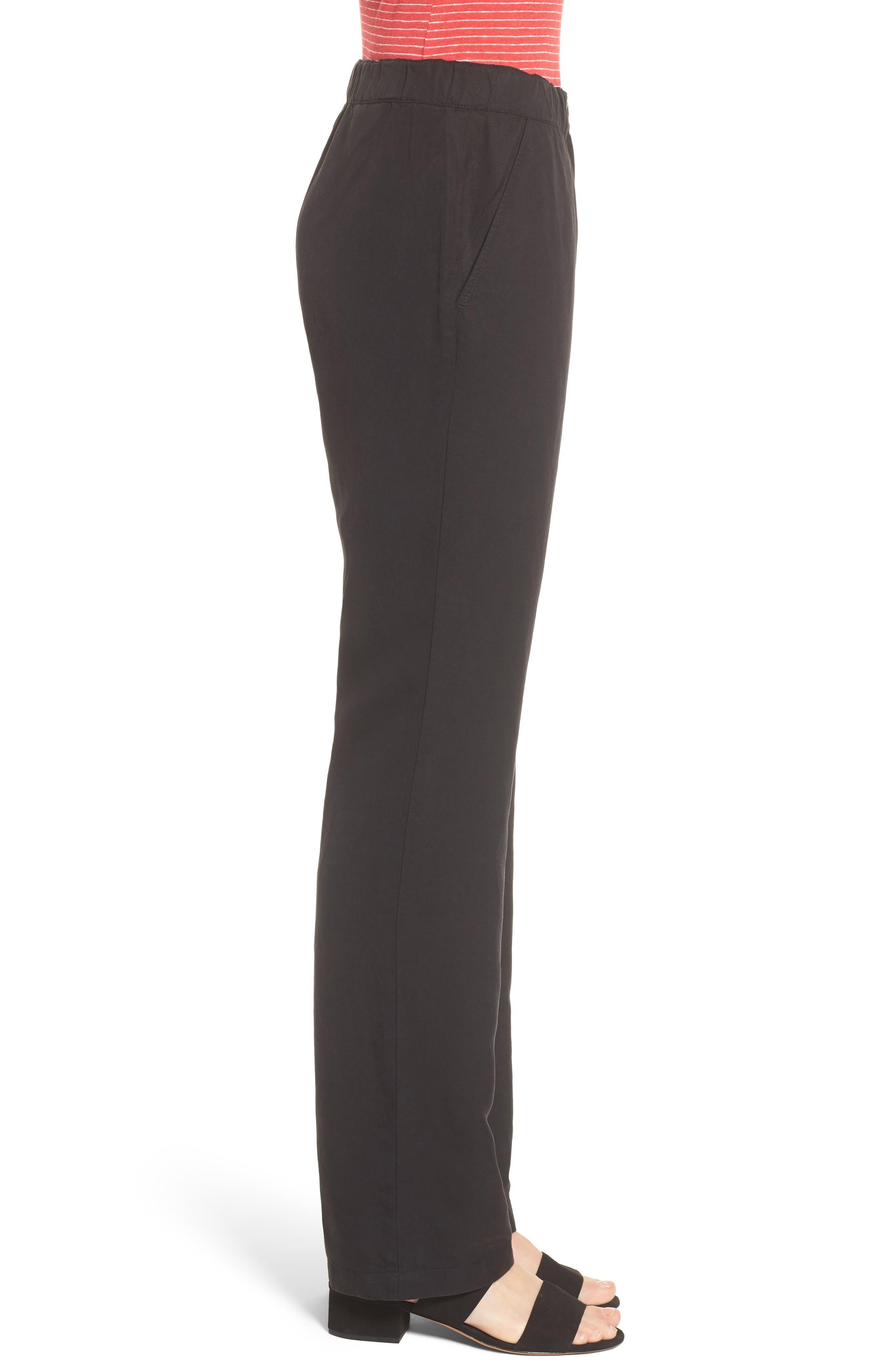 Straight Leg Pants,                             Alternate thumbnail 3, color,                             001