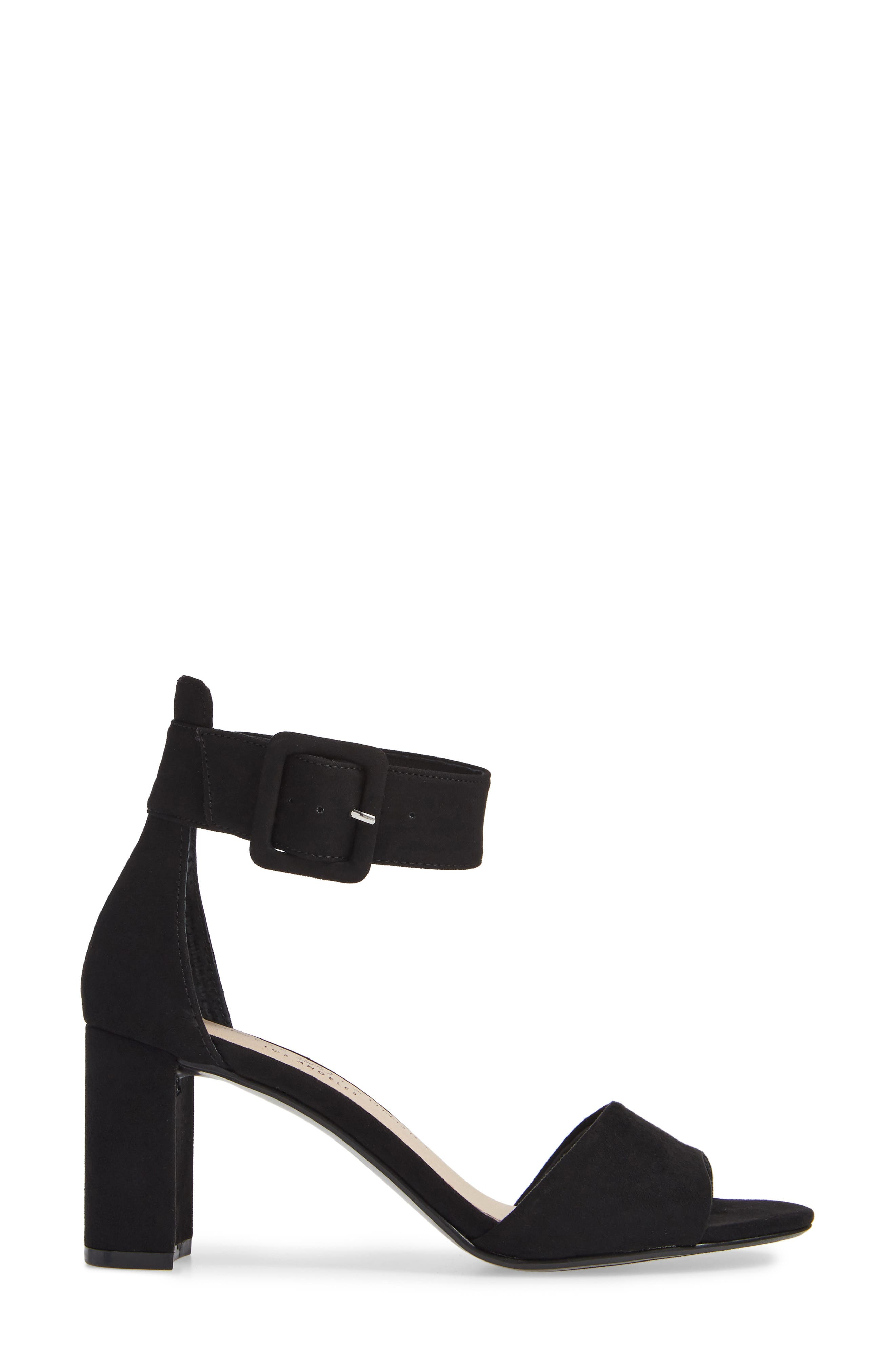 CHINESE LAUNDRY,                             Rumor Sandal,                             Alternate thumbnail 3, color,                             BLACK SUEDE