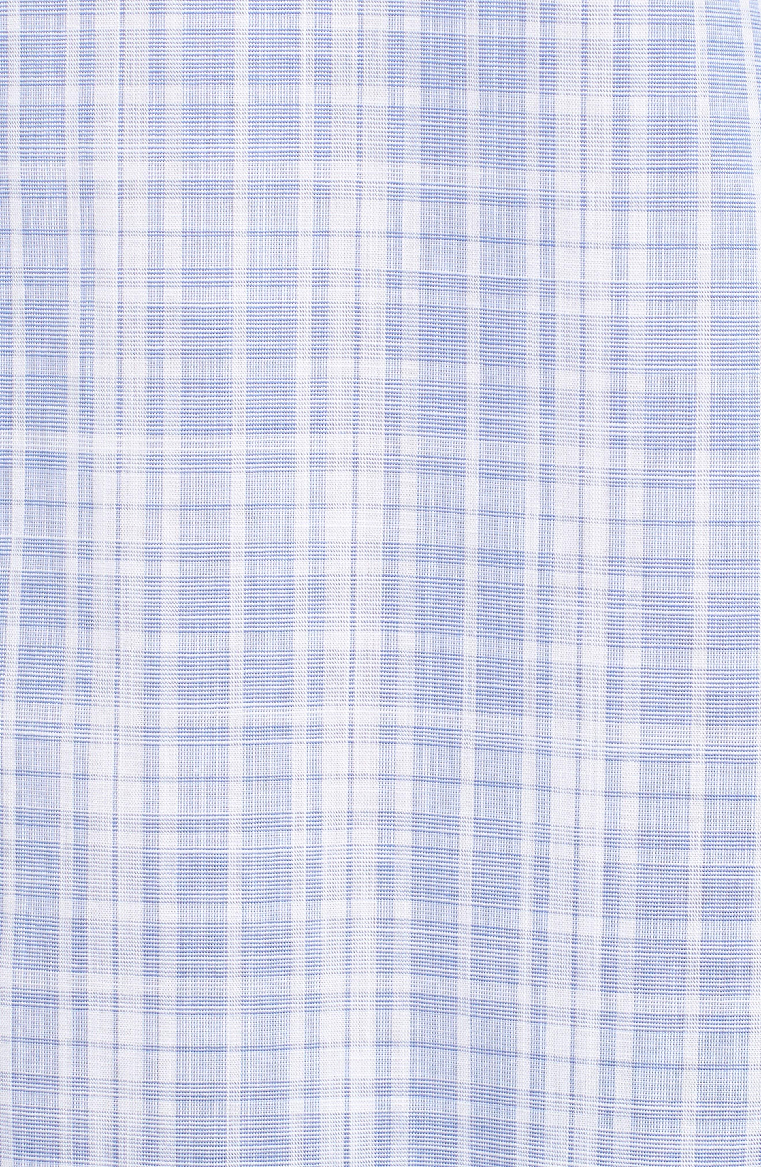 Cochran Slim Fit Plaid Sport Shirt,                             Alternate thumbnail 5, color,                             BLUE