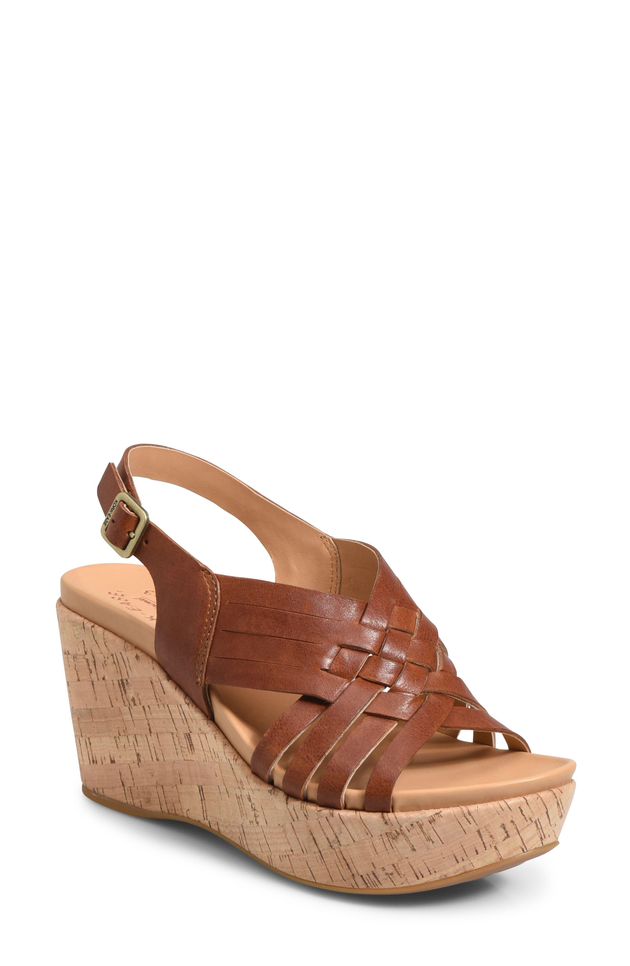 Kork-Ease Adelanto Wedge Sandal, Brown