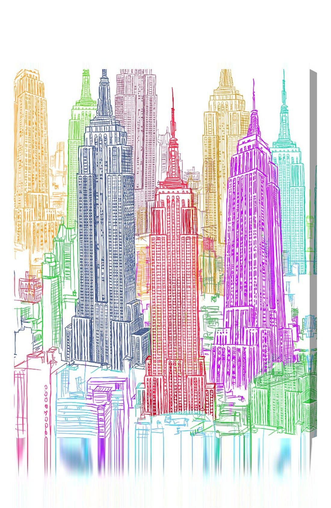 'Construct' Canvas Wall Art,                             Main thumbnail 1, color,                             600
