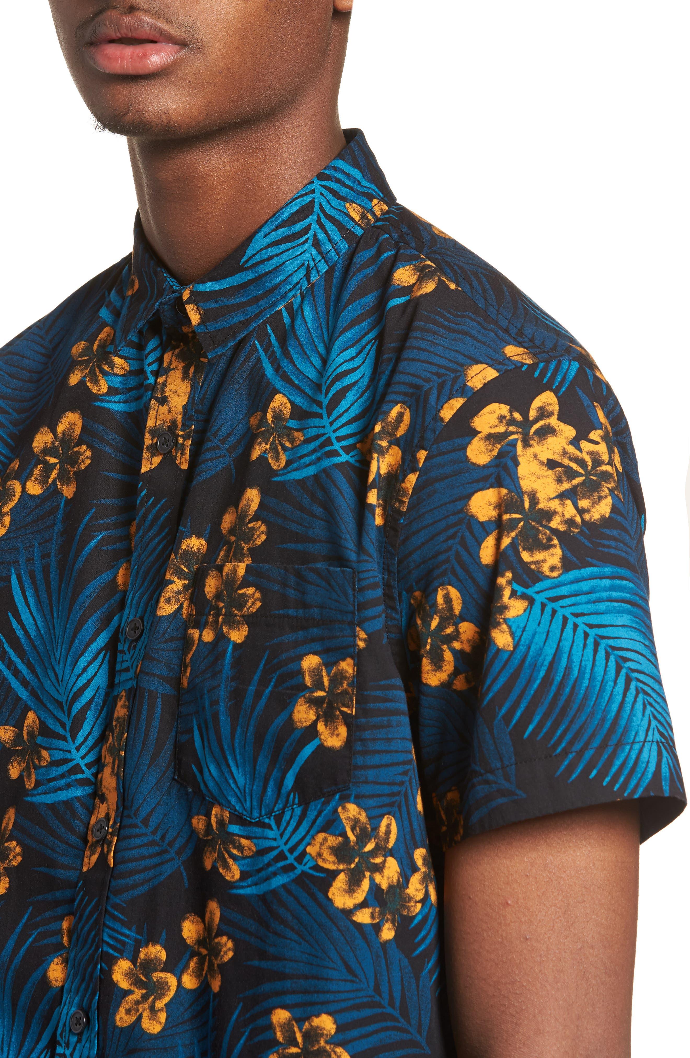 Short Sleeve Print Poplin Shirt,                             Alternate thumbnail 16, color,
