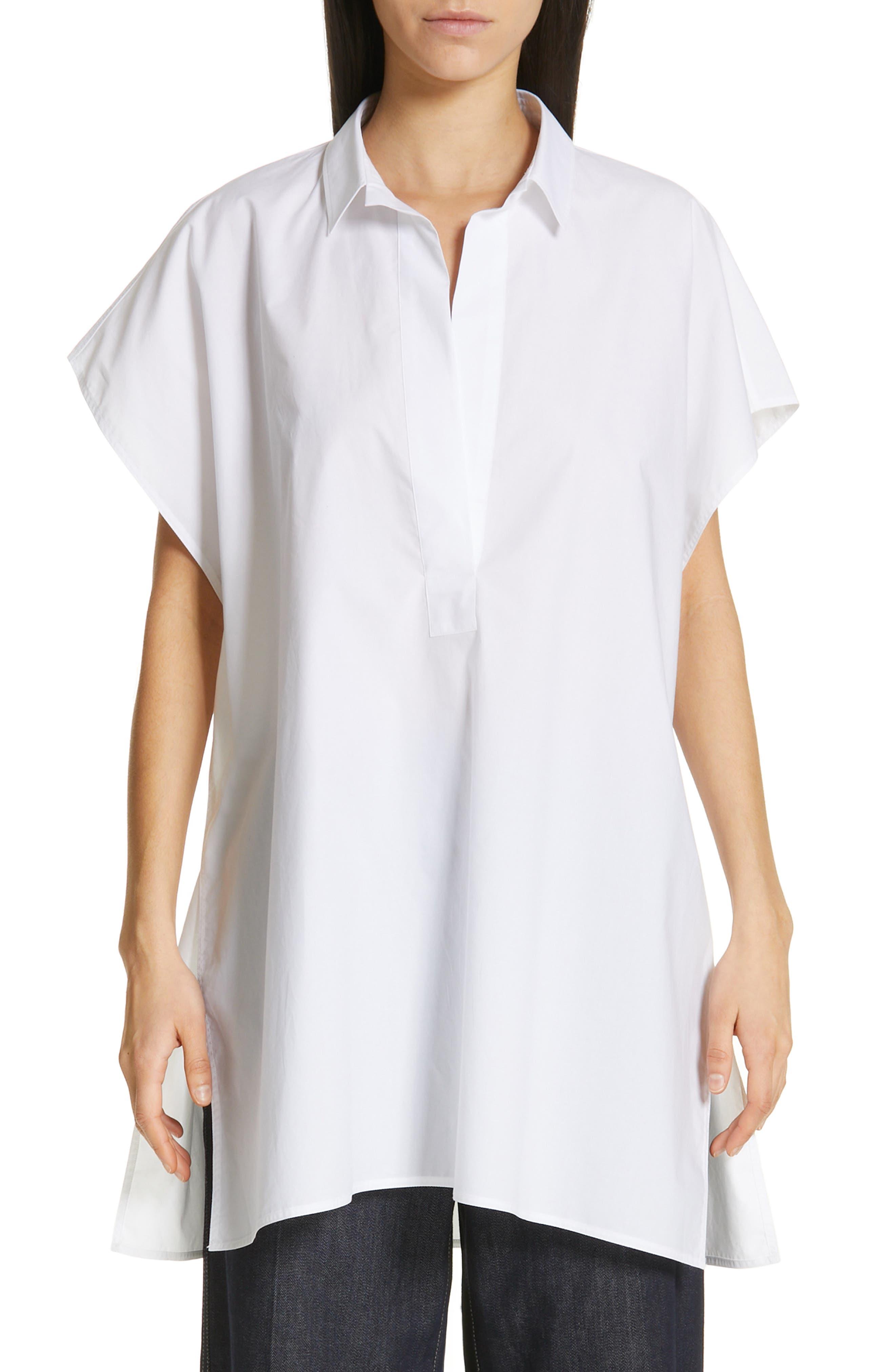 Oversize Dolman Sleeve Blouse, Main, color, OPTICAL WHITE