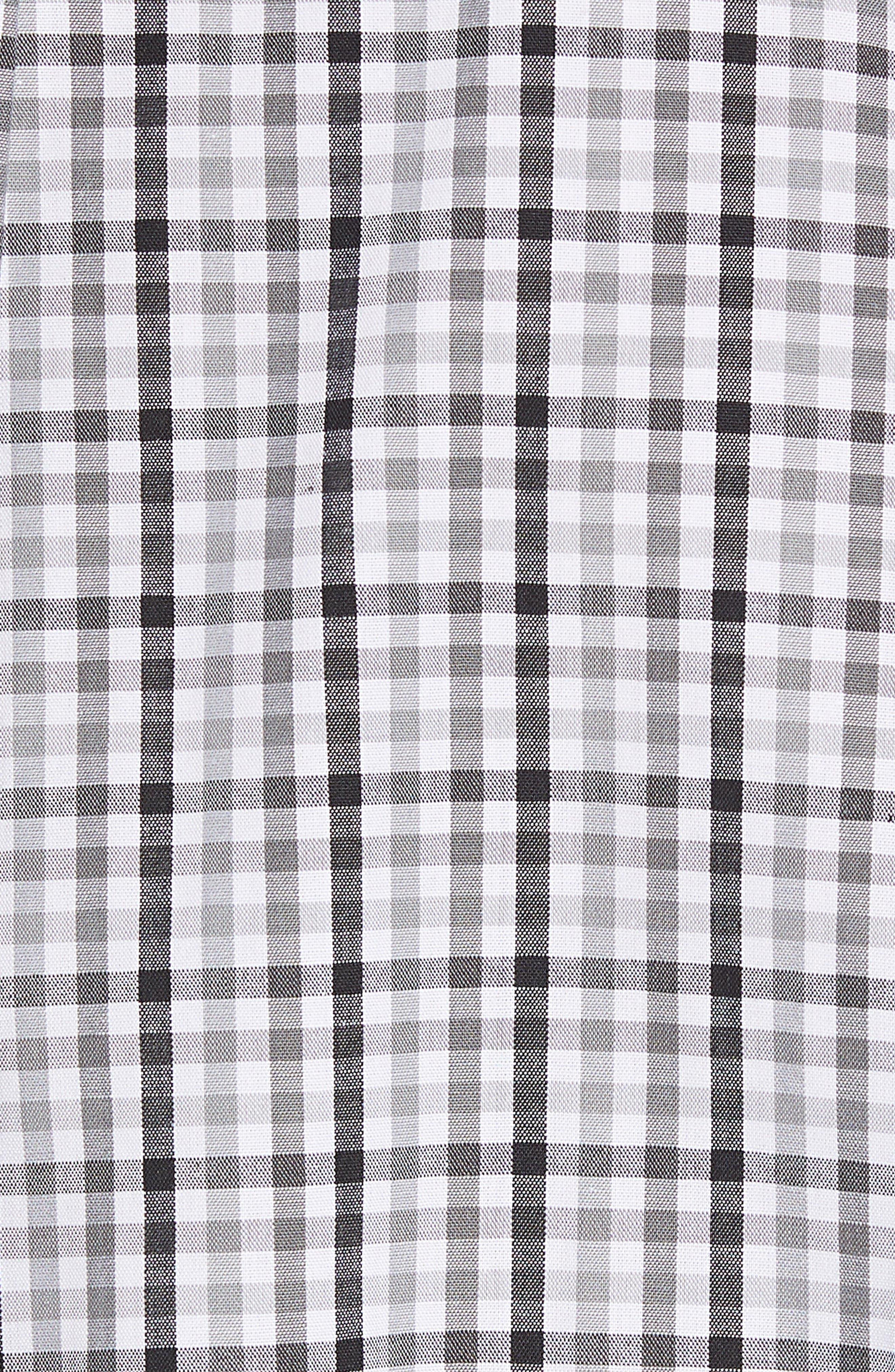 Jacksonville Jaguars - Gilman Regular Fit Plaid Sport Shirt,                             Alternate thumbnail 5, color,                             BLACK