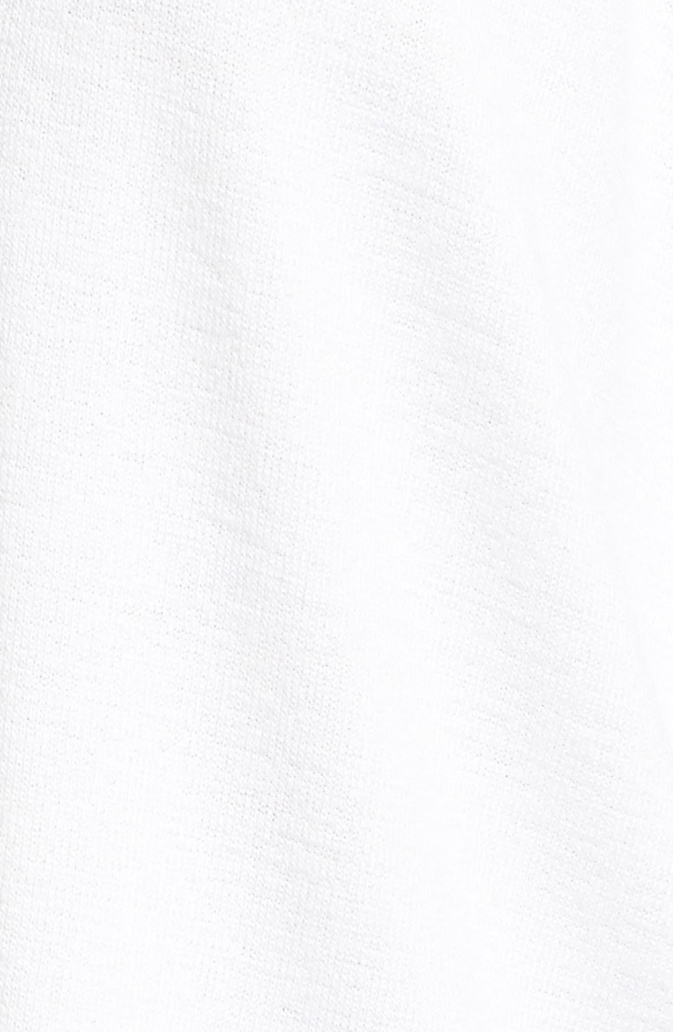 rag & bone Hudson Long Sleeve Tee,                             Alternate thumbnail 5, color,                             WHITE
