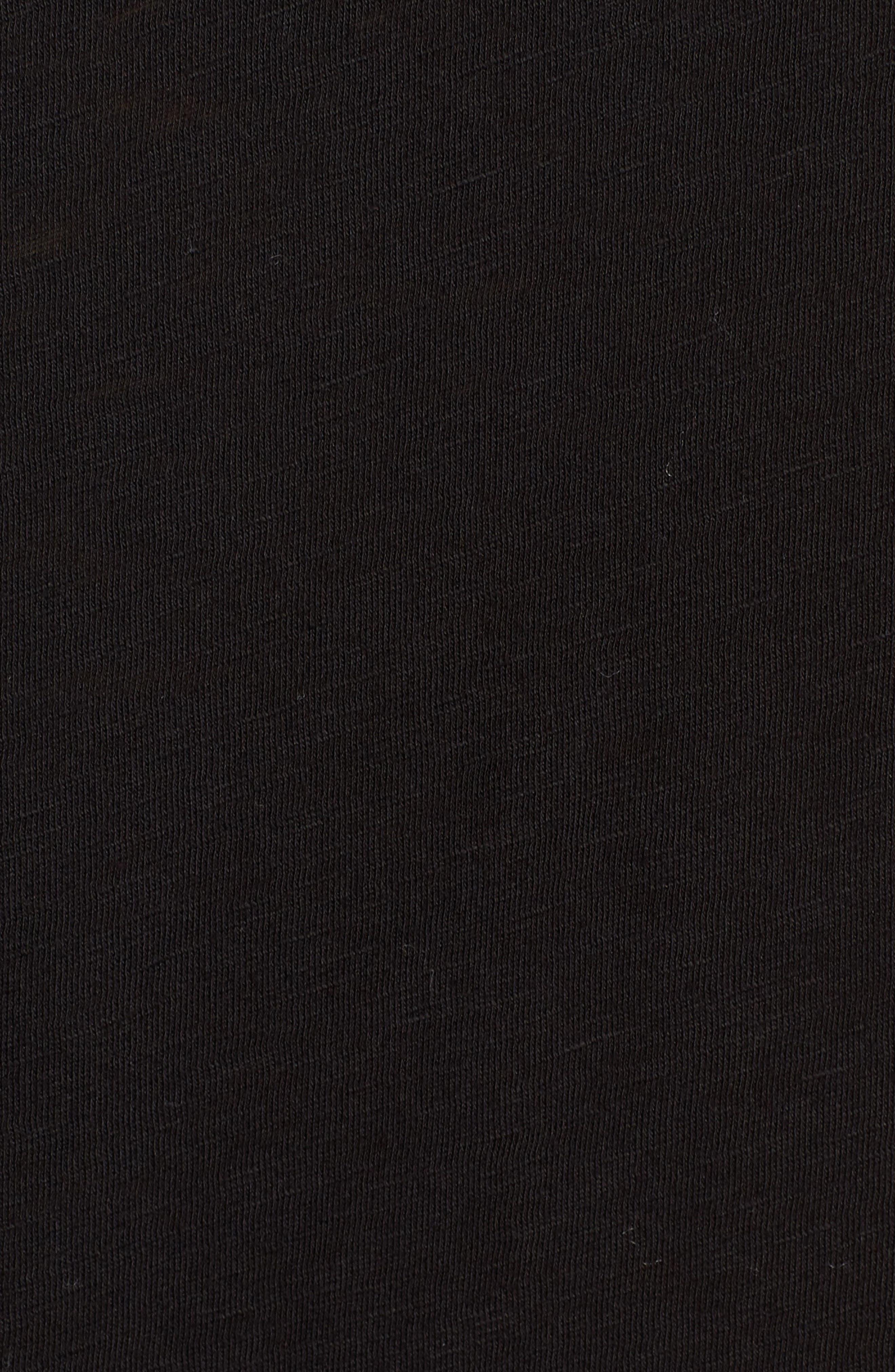 Twist Hem Slub Supima<sup>®</sup> Cotton Tank,                             Alternate thumbnail 6, color,                             BLACK