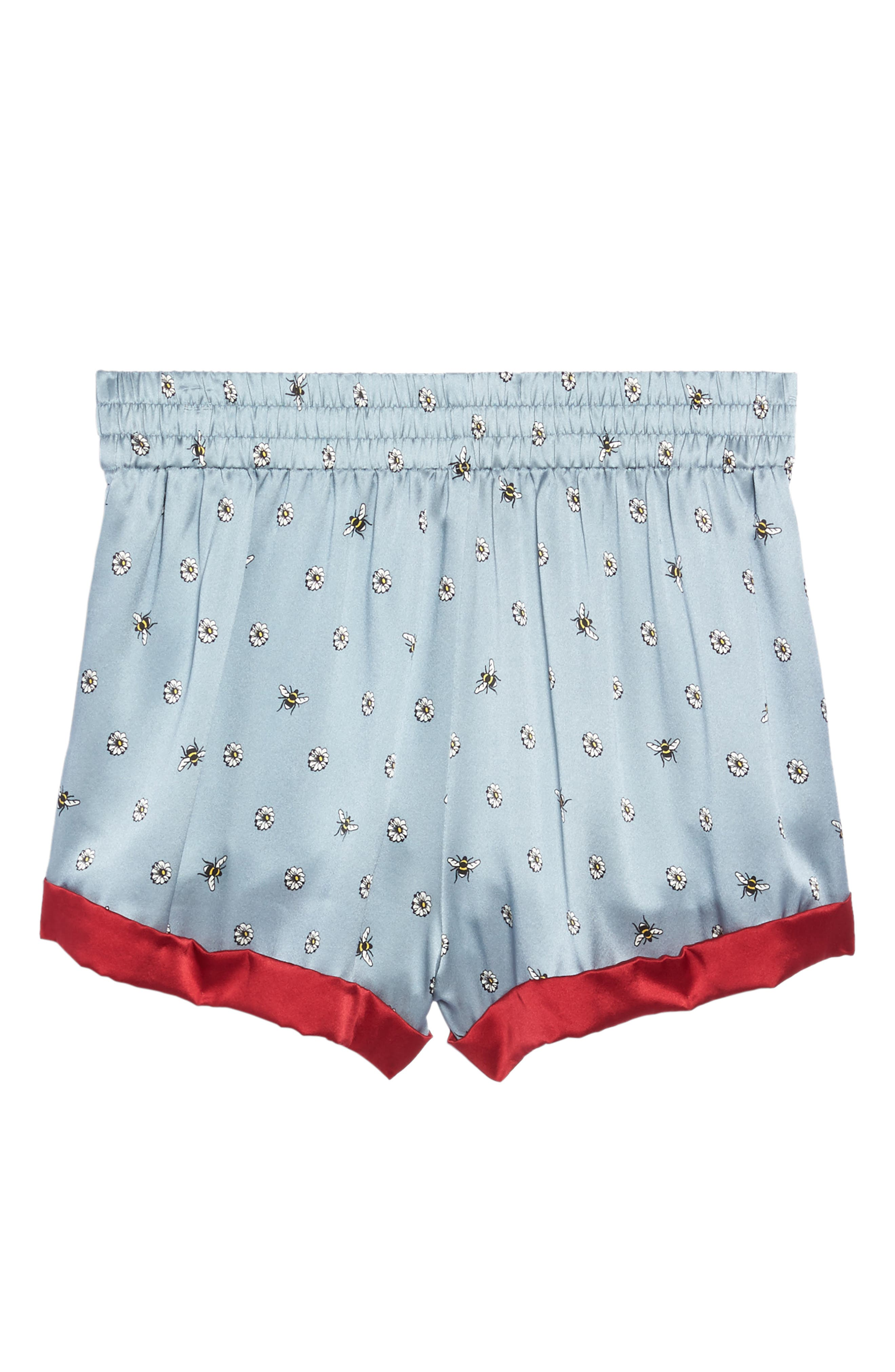Chloe Silk Pajama Shorts,                             Alternate thumbnail 6, color,                             490