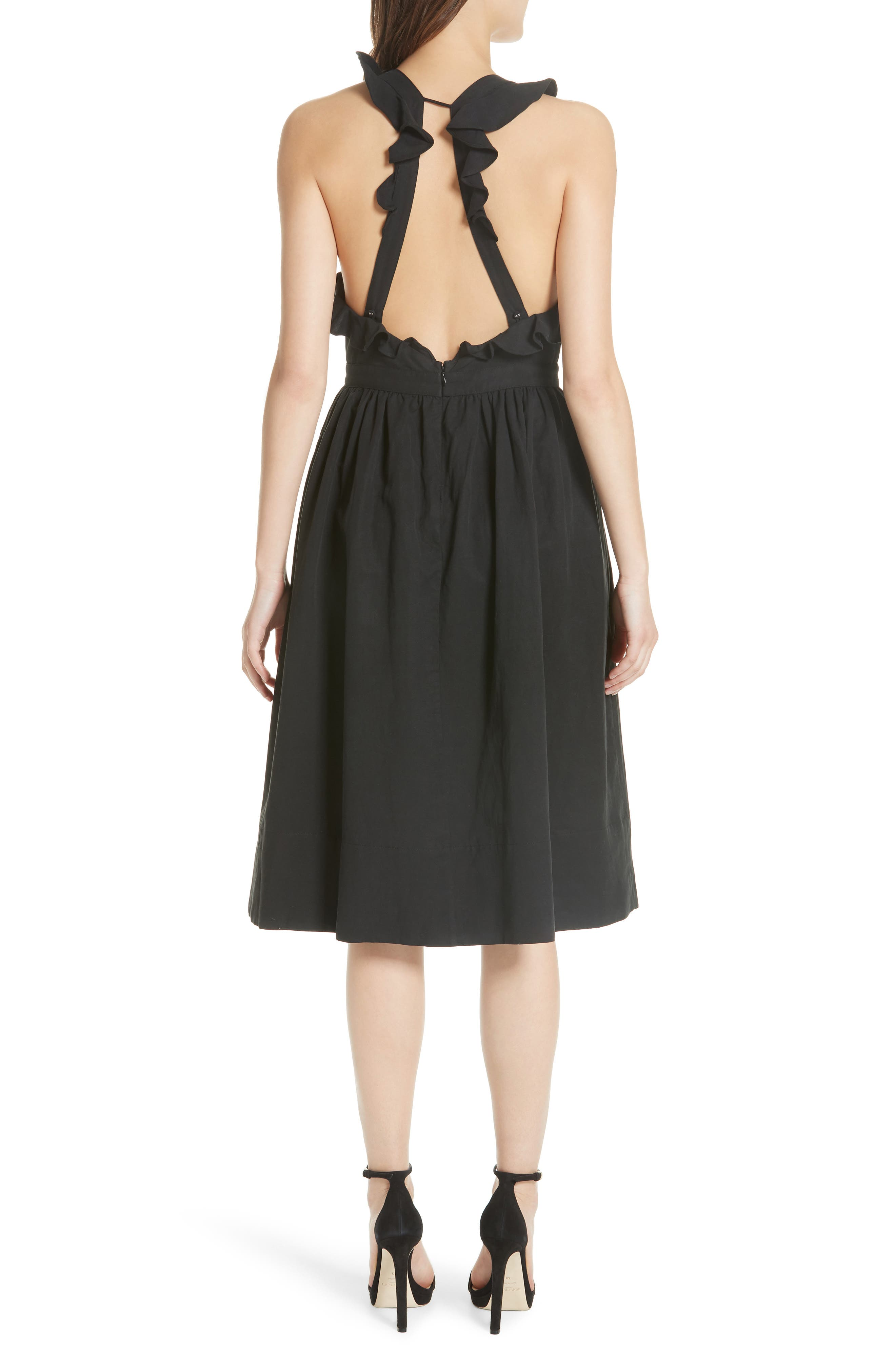 Willa Pinafore Dress,                             Alternate thumbnail 2, color,                             001