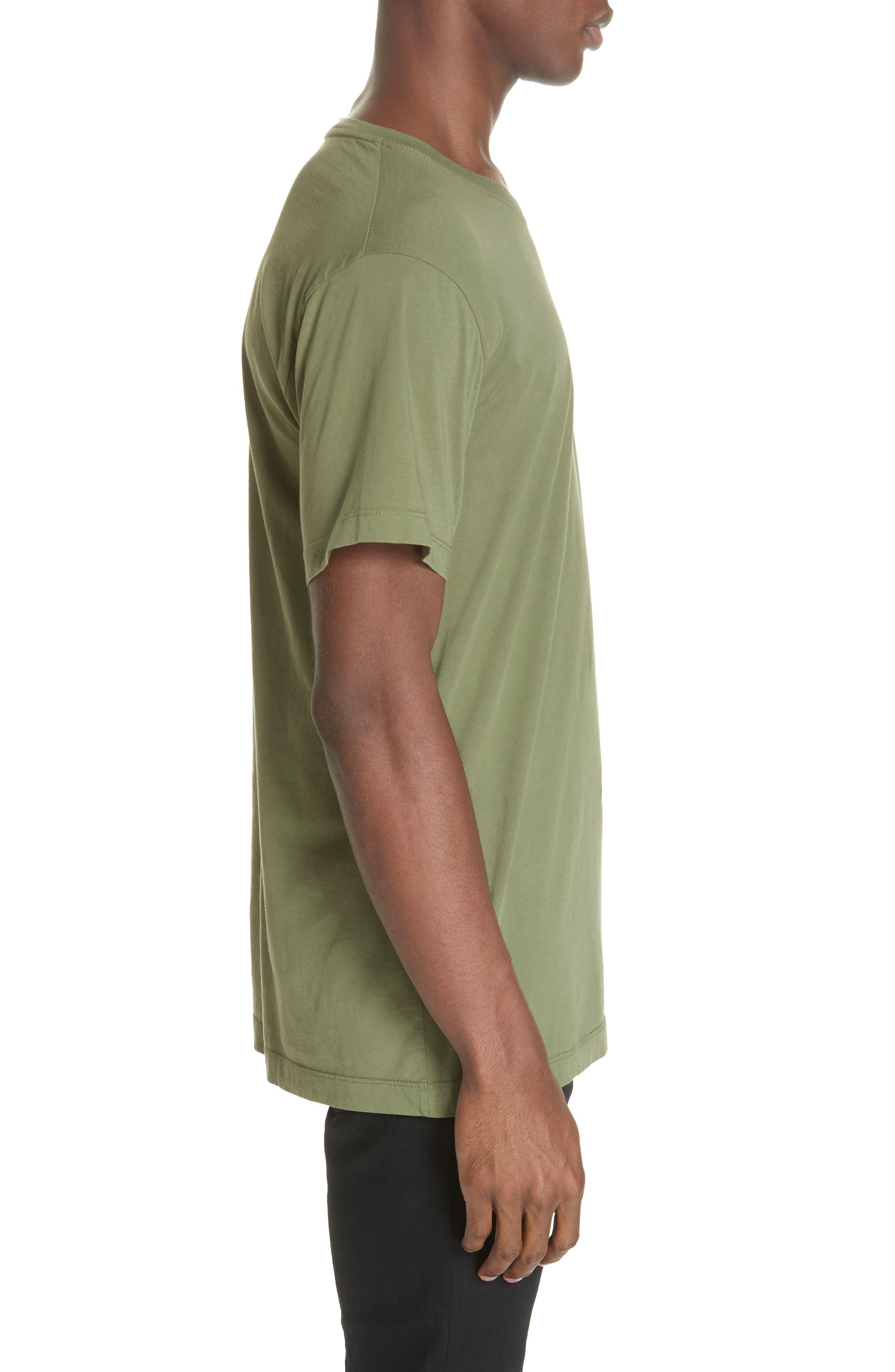 Cotton Classic Crew T-Shirt,                             Alternate thumbnail 3, color,                             301