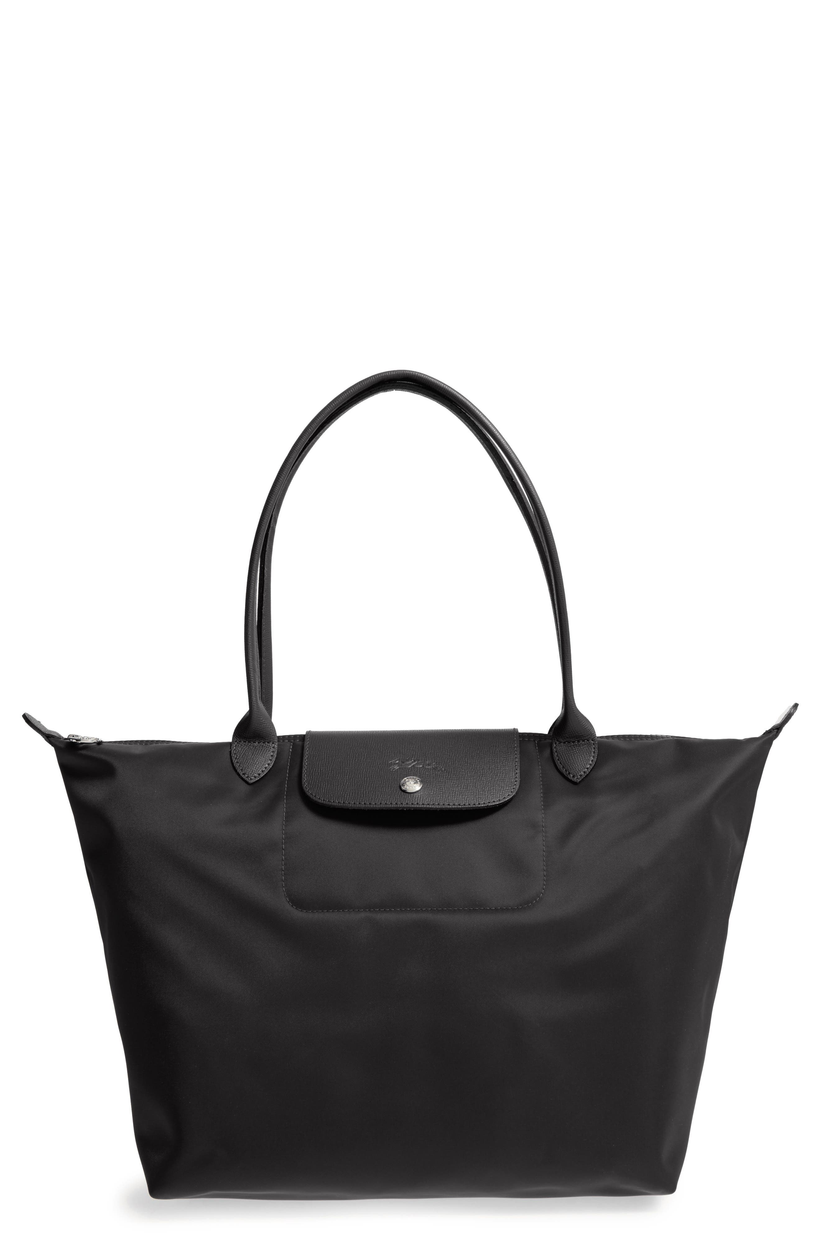 'Large Le Pliage Neo' Nylon Tote,                             Alternate thumbnail 5, color,                             BLACK