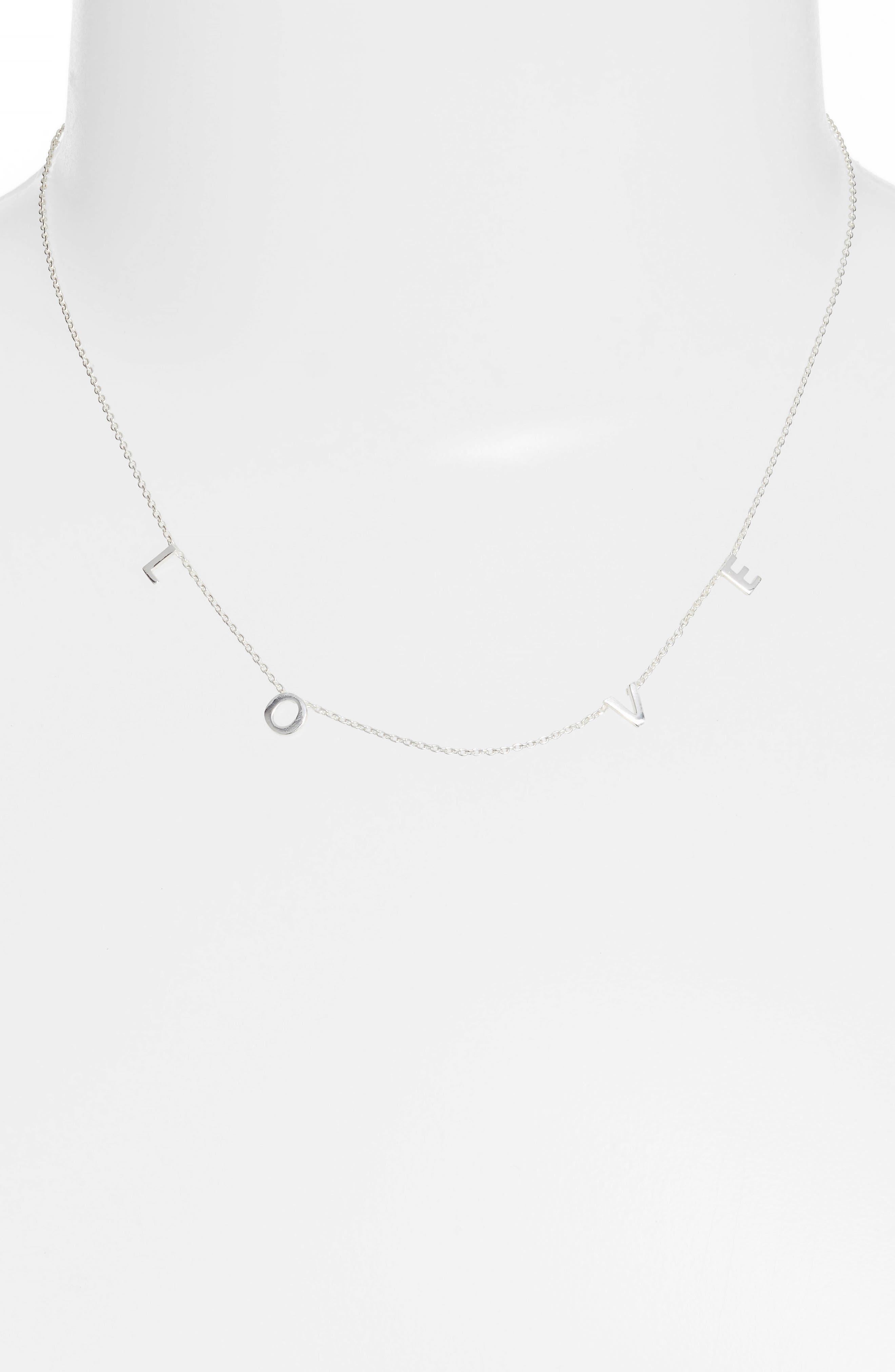 Love Frontal Necklace,                             Alternate thumbnail 2, color,                             040