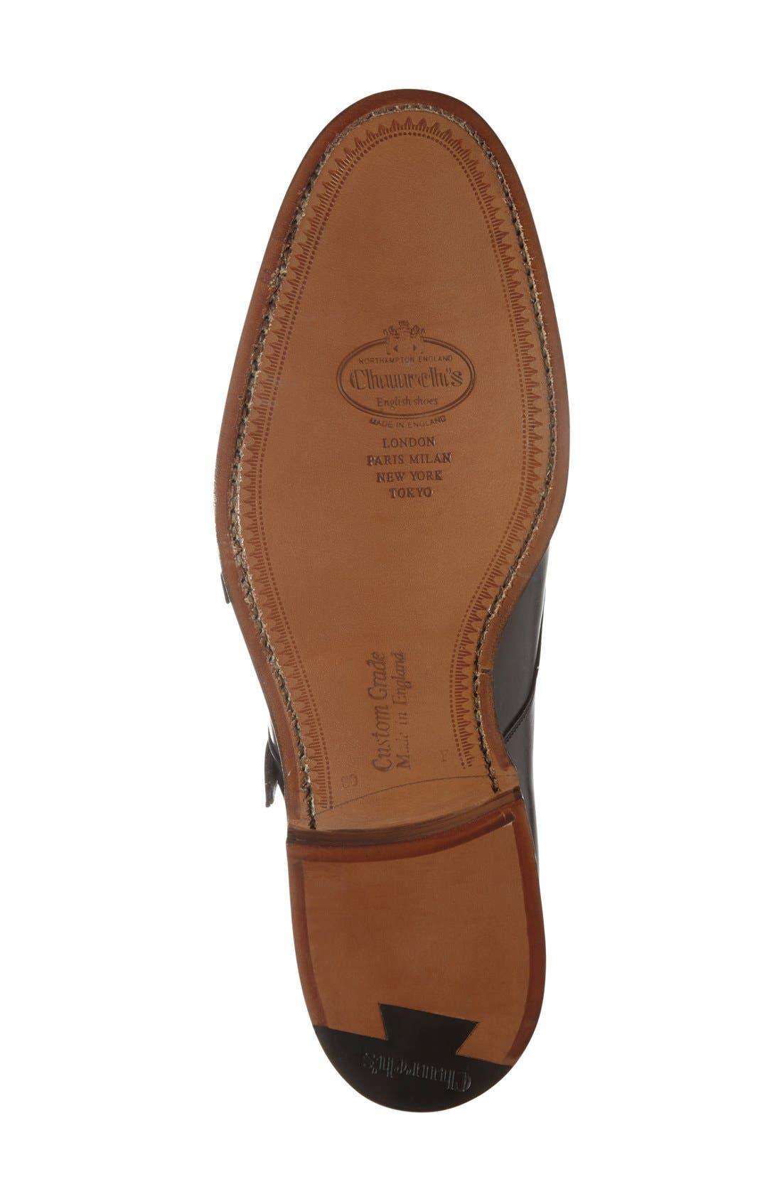 'Cowes' Double Monk Strap Shoe,                             Alternate thumbnail 4, color,                             001