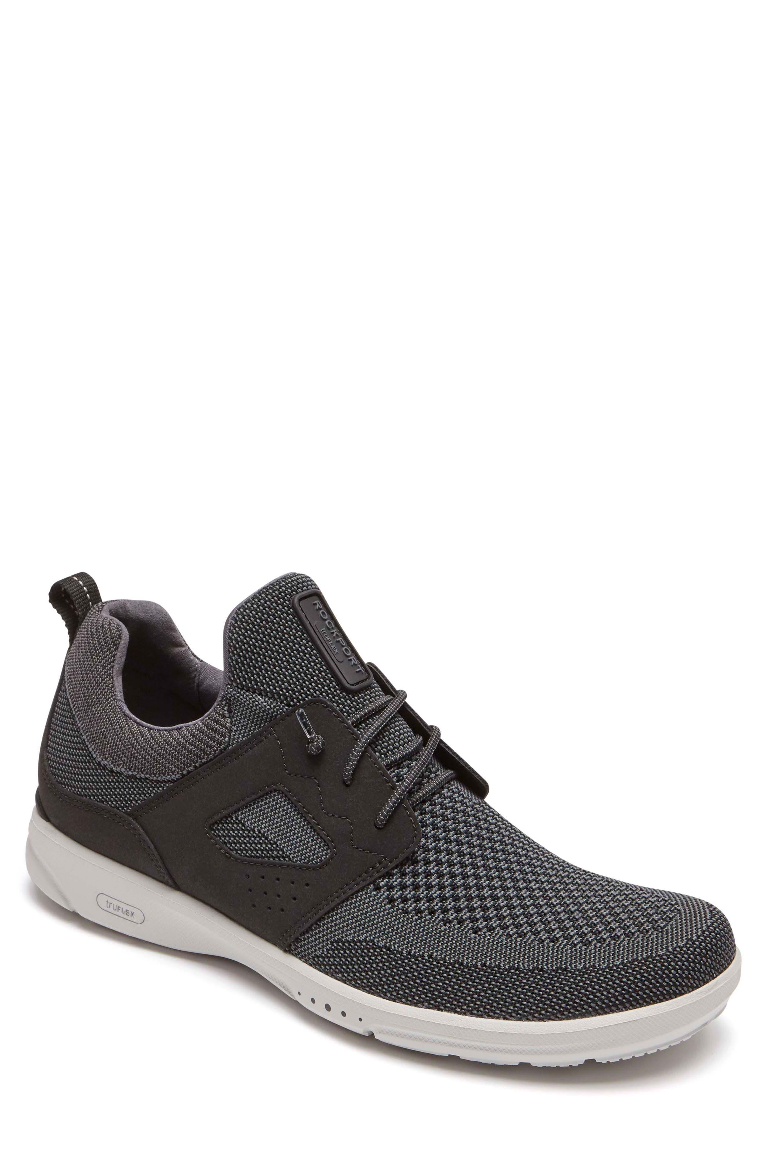 truFlex Sneaker,                         Main,                         color, BLACK LEATHER