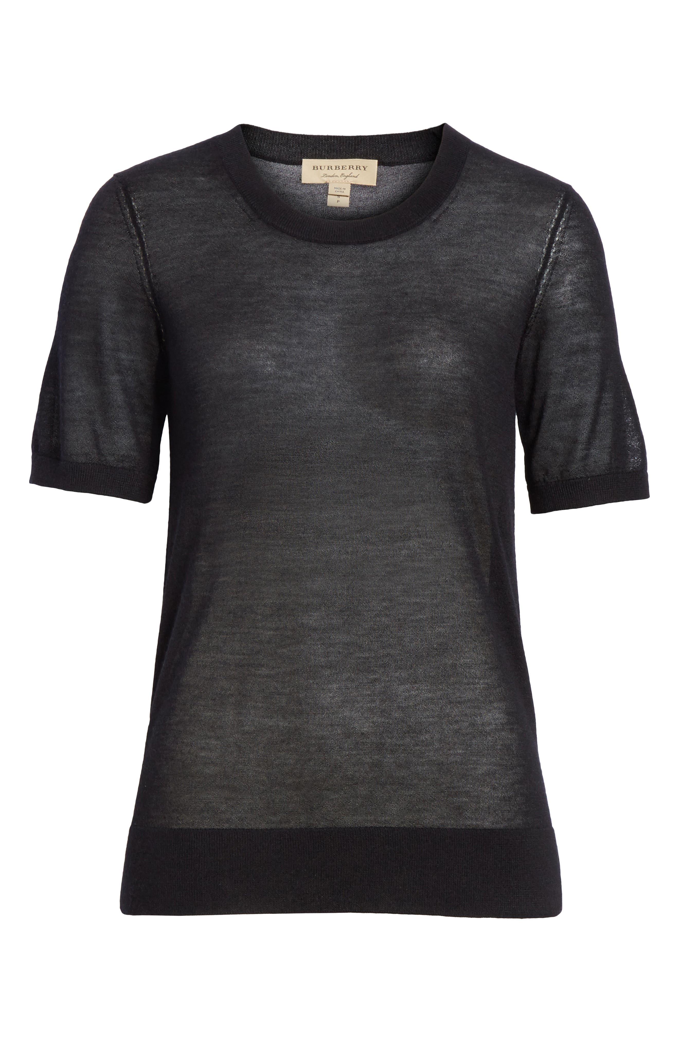 Killik Cashmere Sweater,                             Alternate thumbnail 6, color,                             BLACK