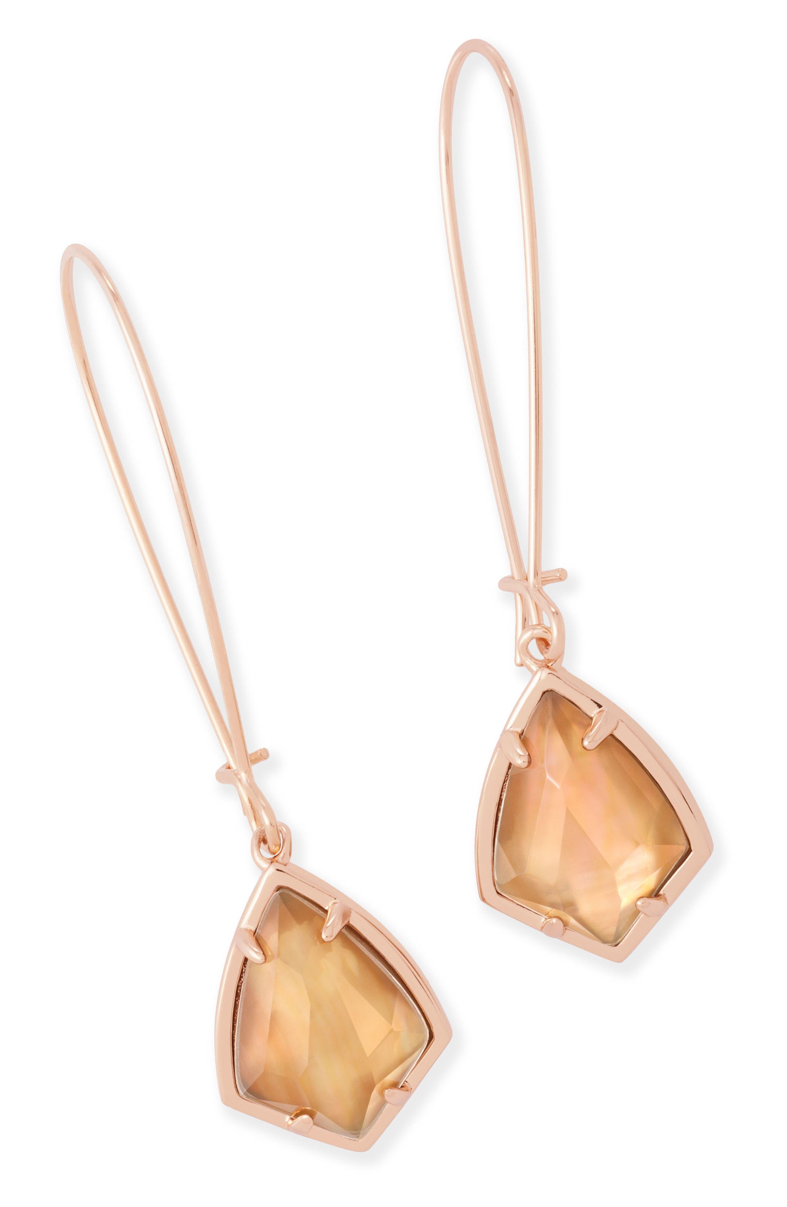 'Carrine' Semiprecious Stone Drop Earrings,                             Alternate thumbnail 16, color,