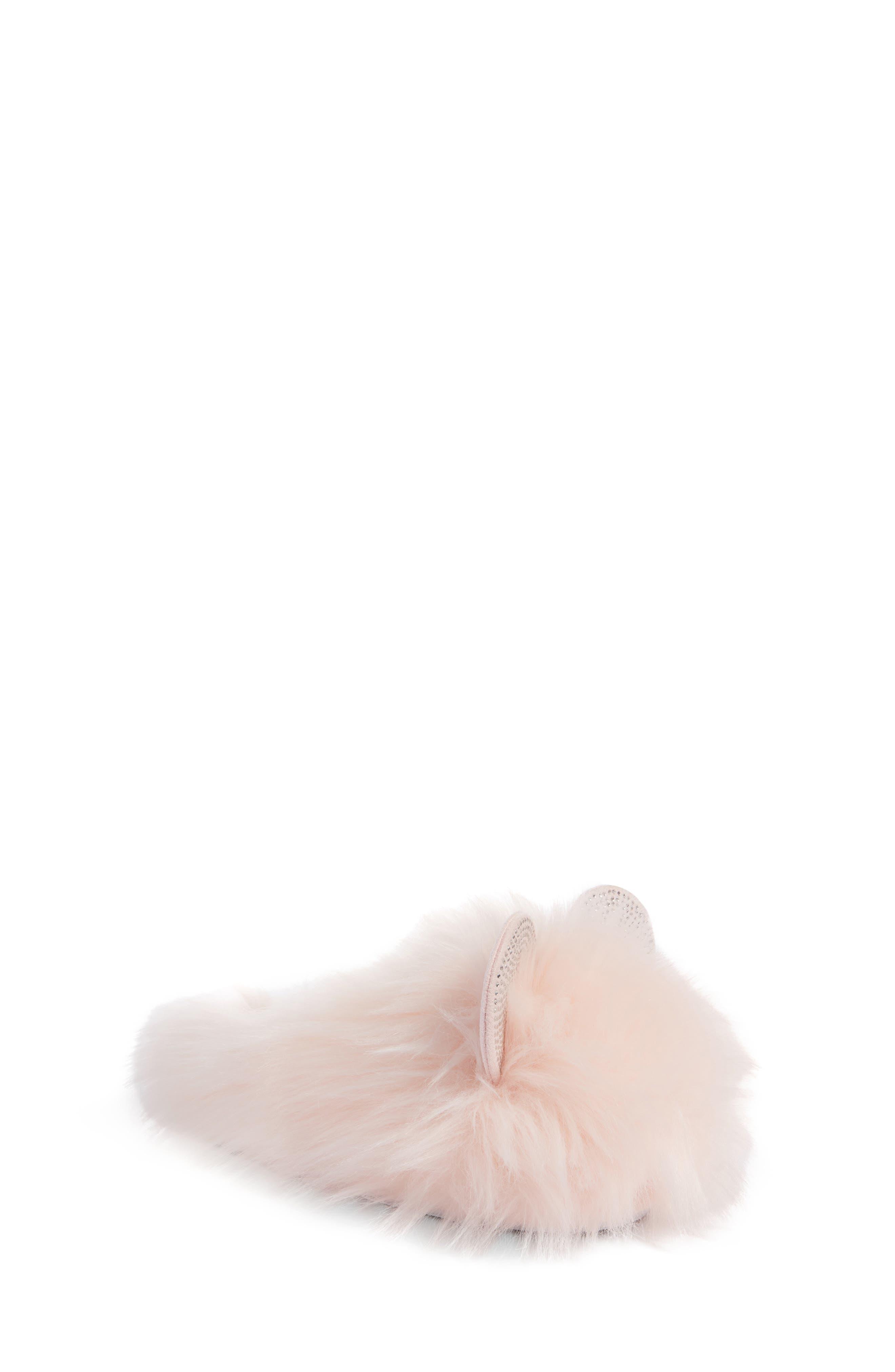 Girls Steve Madden Panda Faux Fur Slipper