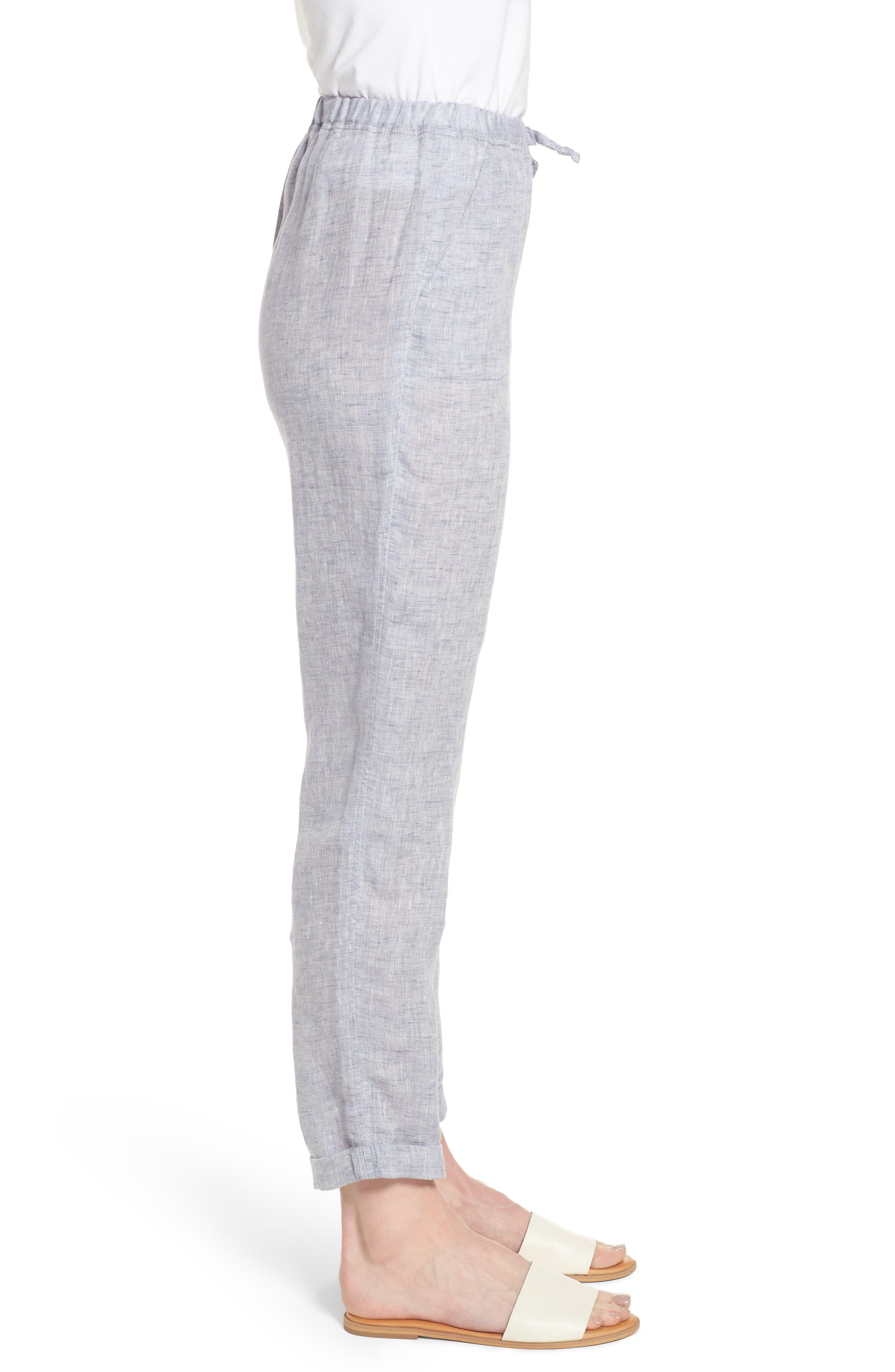 Laid Back Linen Pants,                             Alternate thumbnail 3, color,                             420