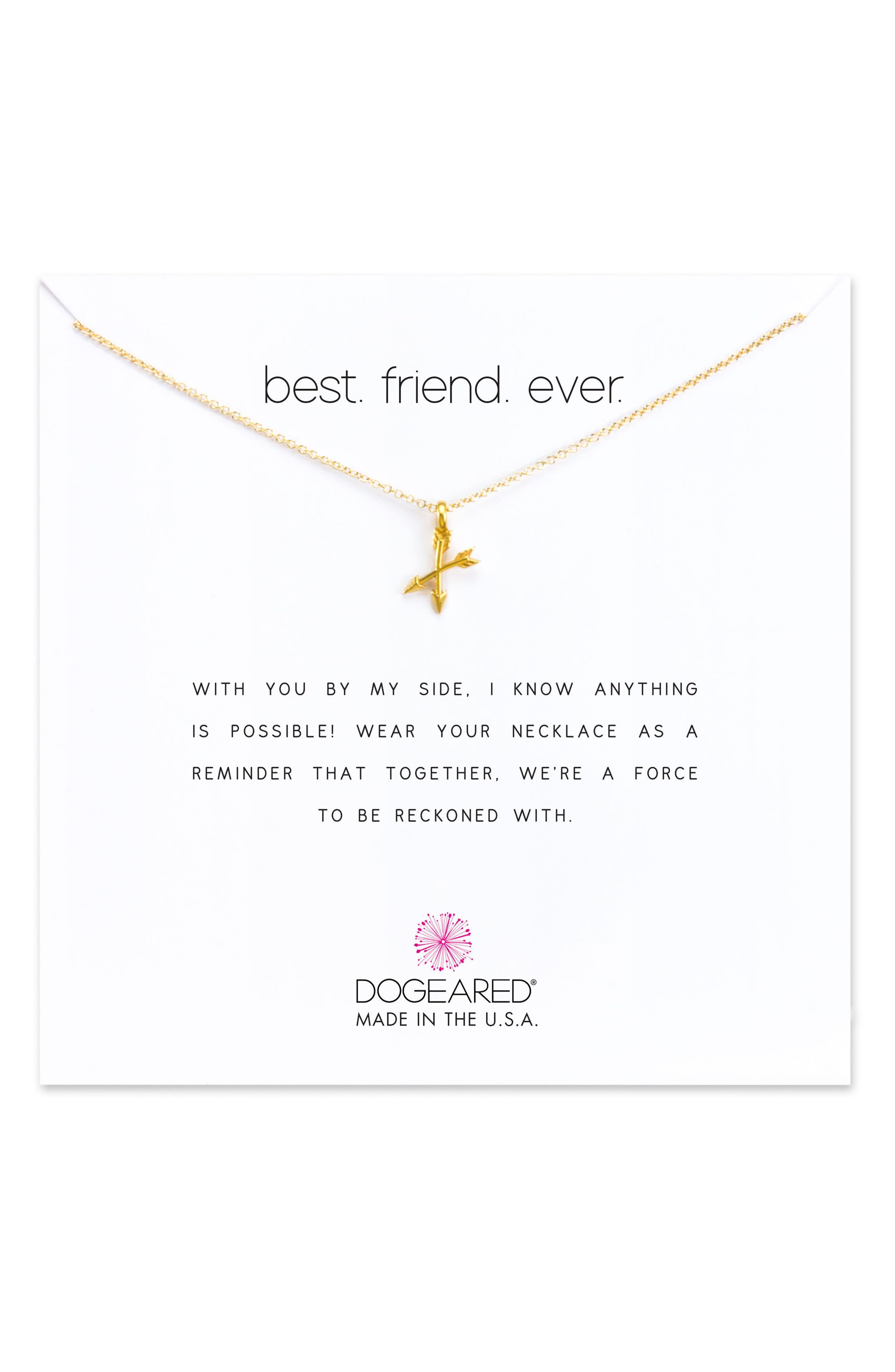 Best Friend Ever Pendant Necklace,                             Main thumbnail 2, color,