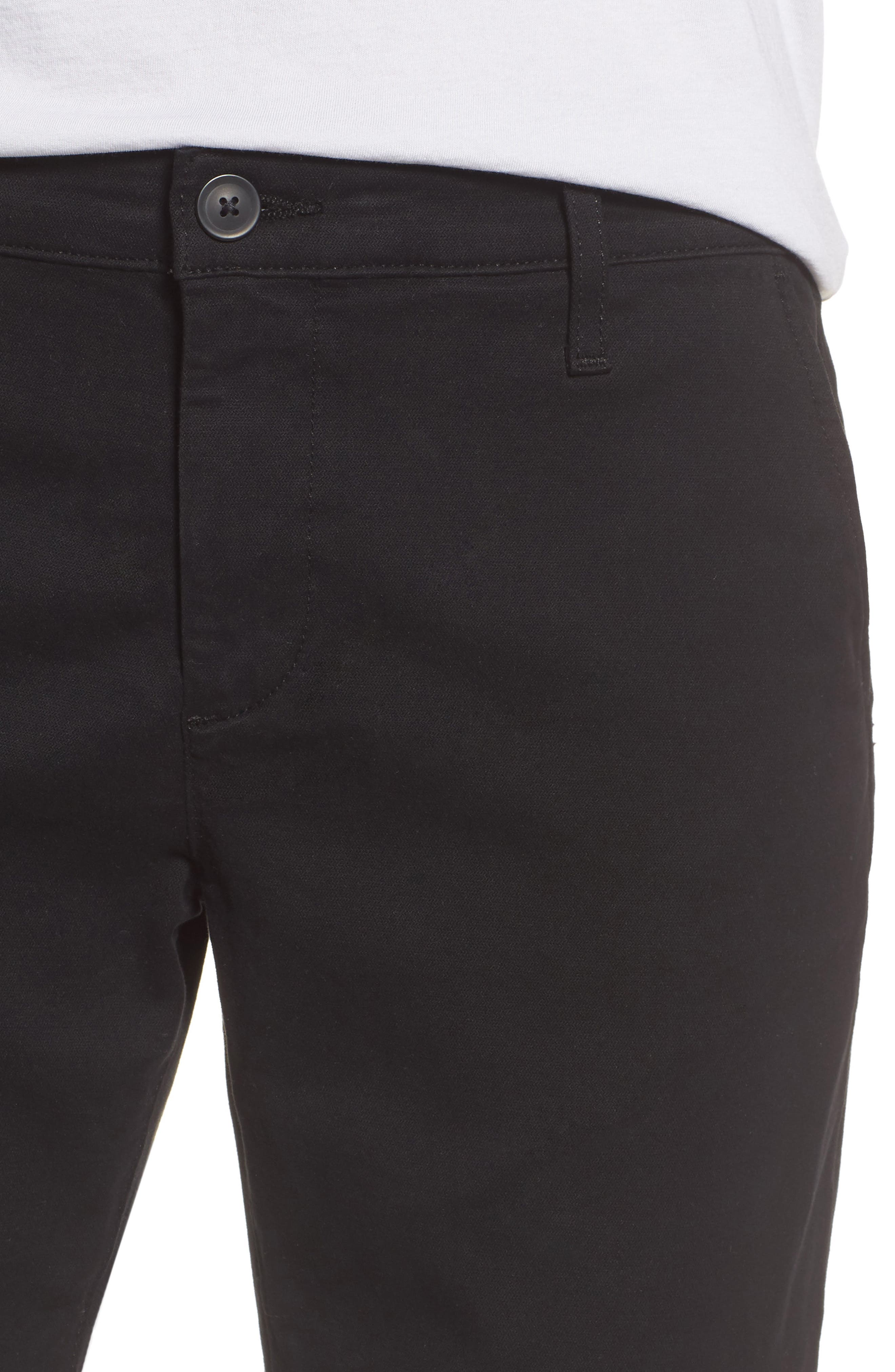 Caden Crop Twill Trousers,                             Alternate thumbnail 4, color,                             010