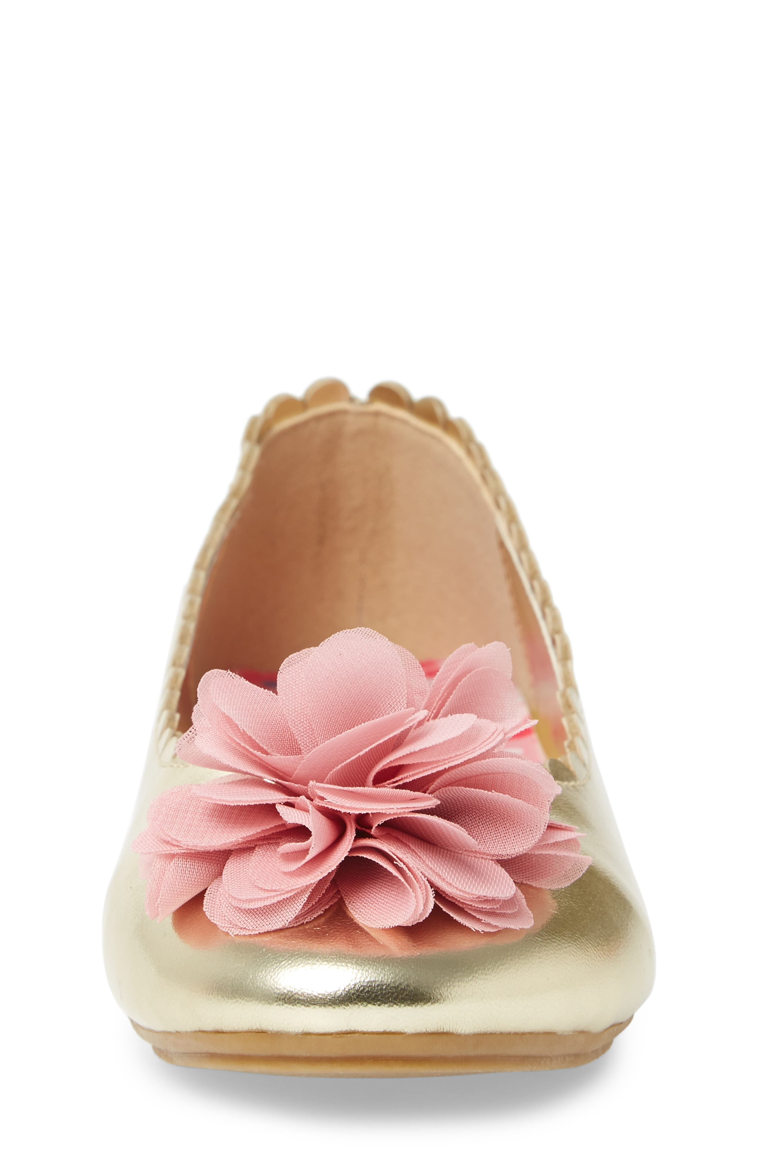 Ashlyn Flower Ballet Flat,                             Alternate thumbnail 4, color,                             710