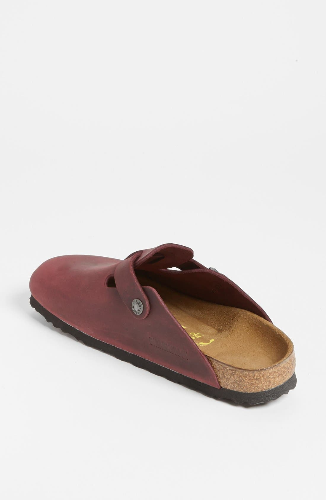 'Boston' Classic Oiled Leather Clog,                             Alternate thumbnail 43, color,