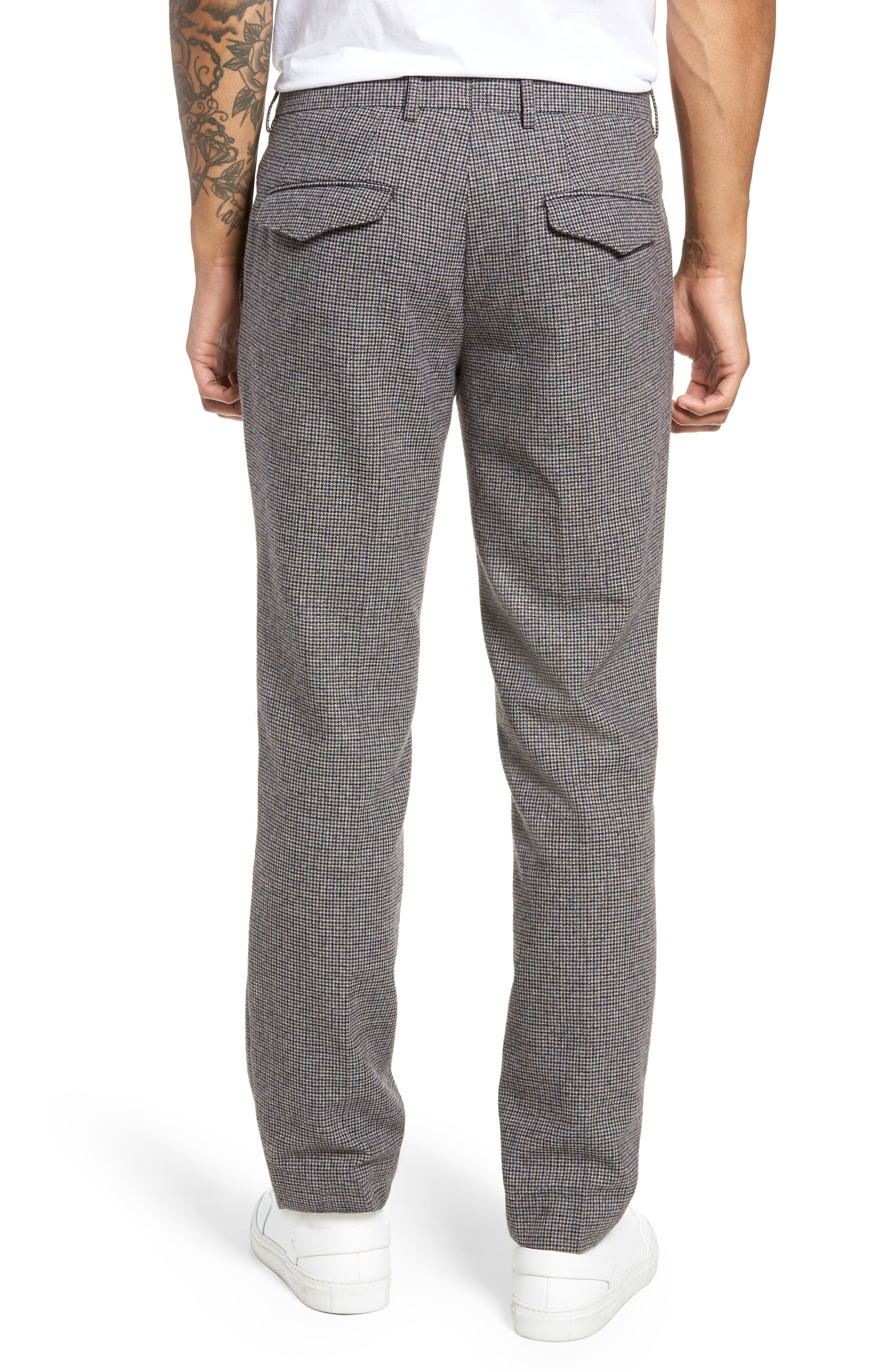 Houndstooth Trousers,                             Alternate thumbnail 2, color,                             DARK GREY