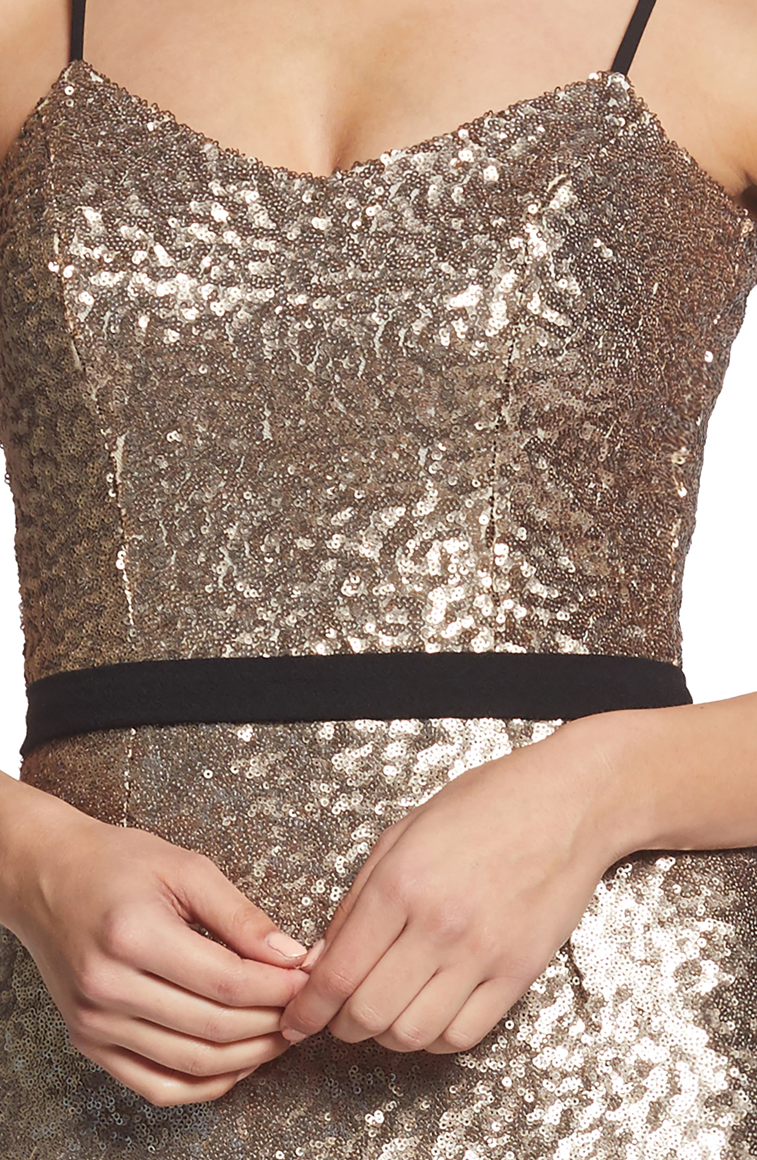 Emma Sequin Body-Con Dress,                             Alternate thumbnail 4, color,                             717