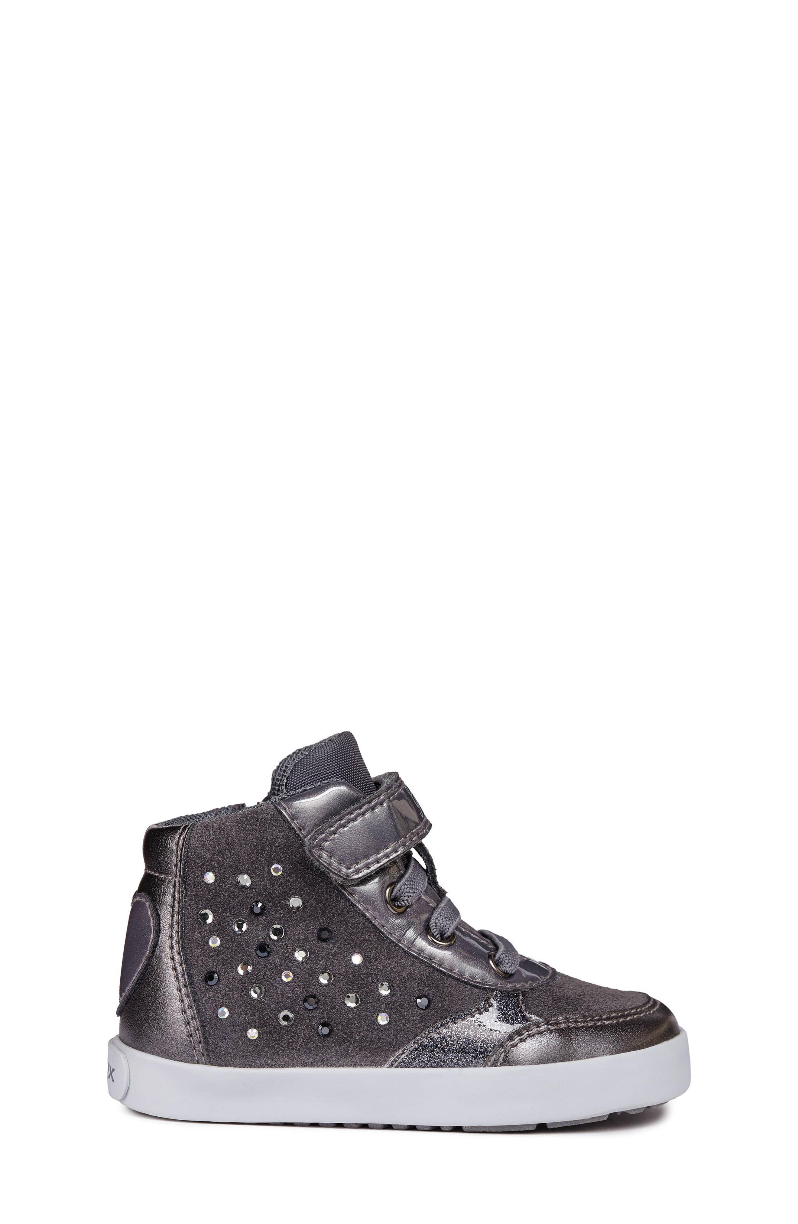 Kilwi High Top Sneaker,                             Alternate thumbnail 3, color,                             DARK GREY
