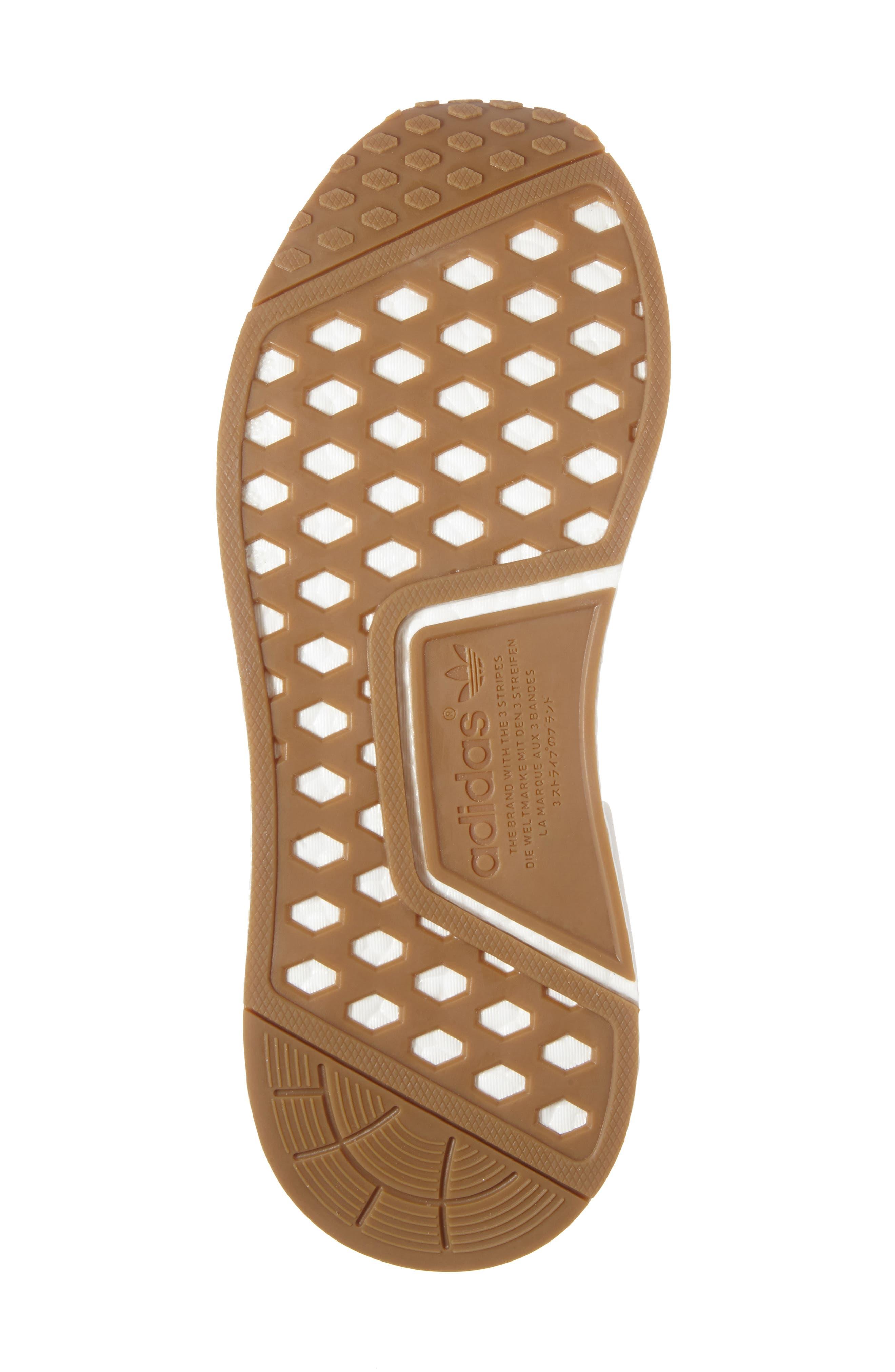 NMD R1 Primeknit Sneaker,                             Alternate thumbnail 6, color,                             002