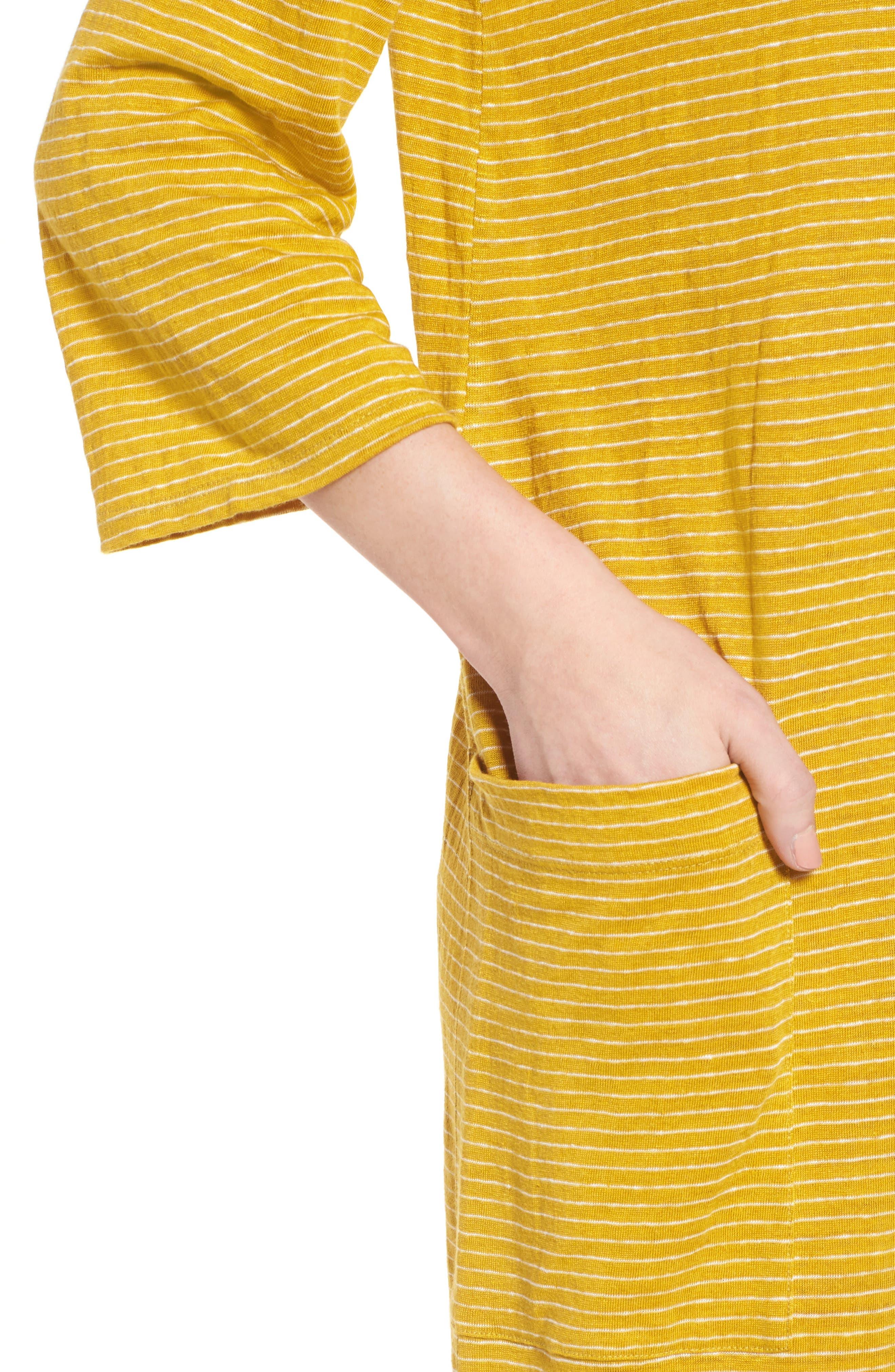 Organic Linen Shift Dress,                             Alternate thumbnail 12, color,