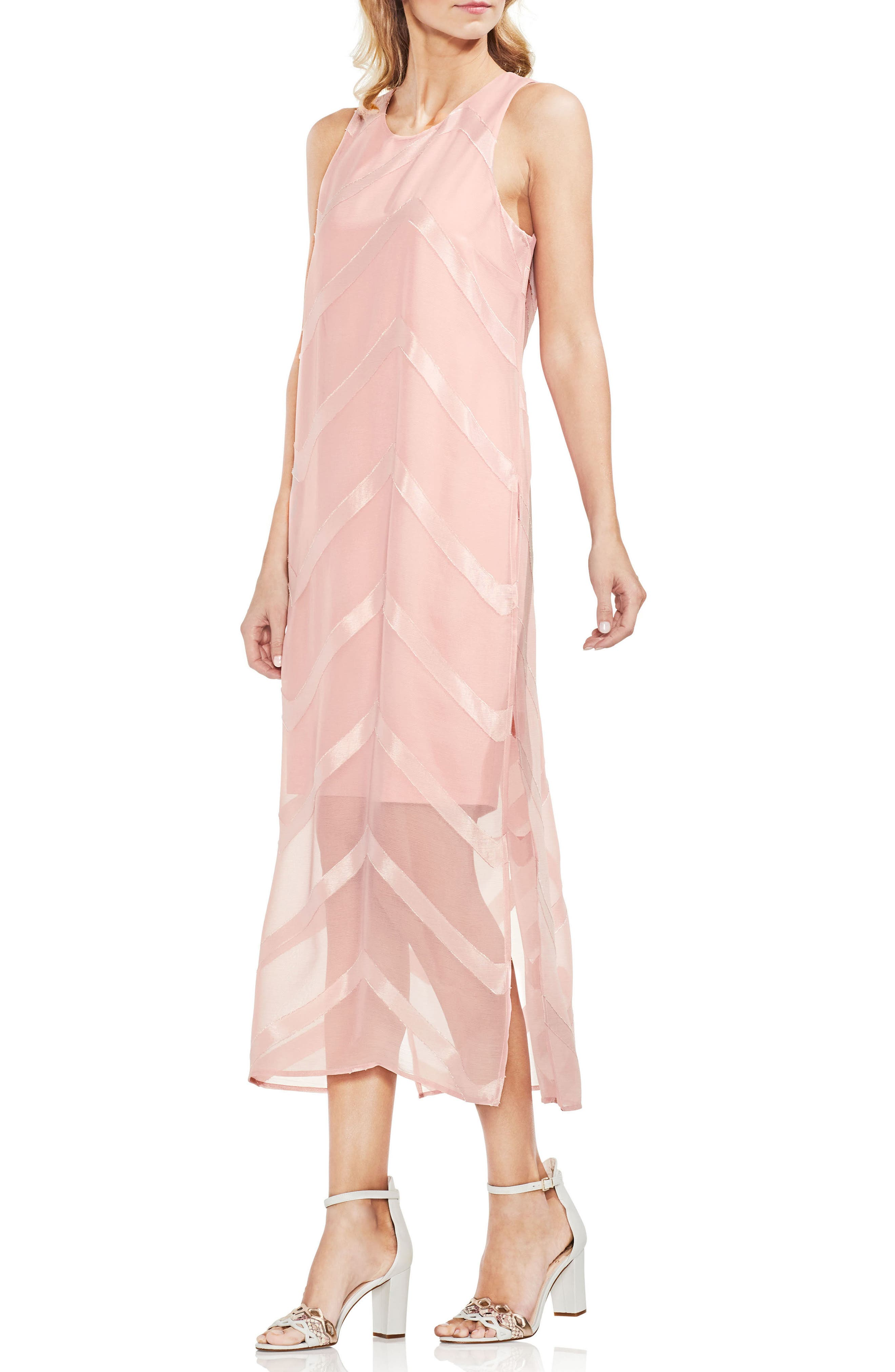 Sheer Chevron Maxi Dress,                             Main thumbnail 2, color,