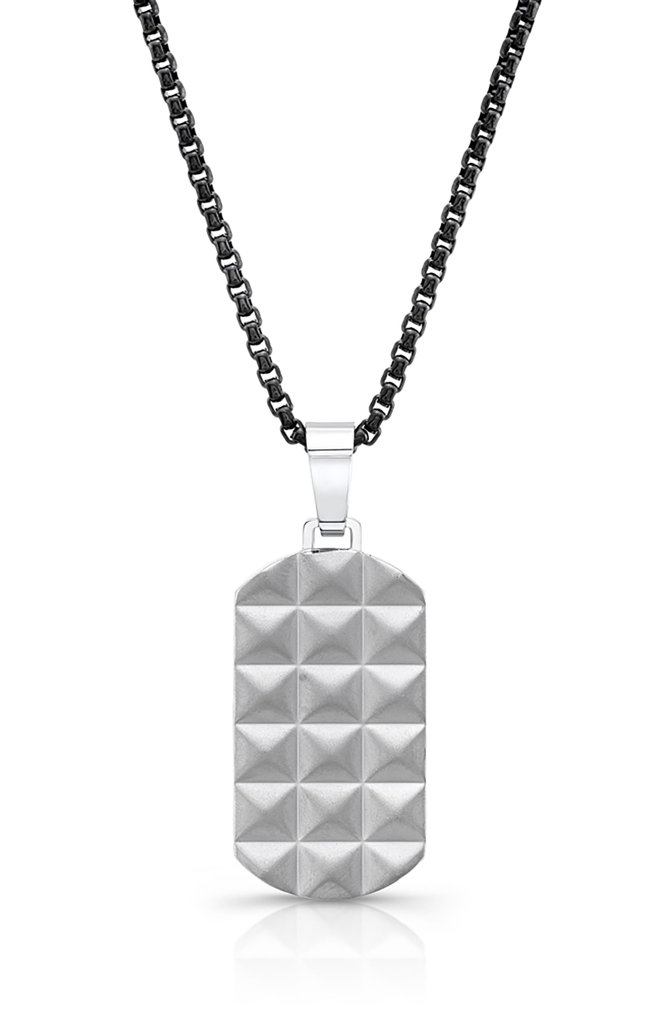 Punk Dog Tag Necklace,                         Main,                         color, 040