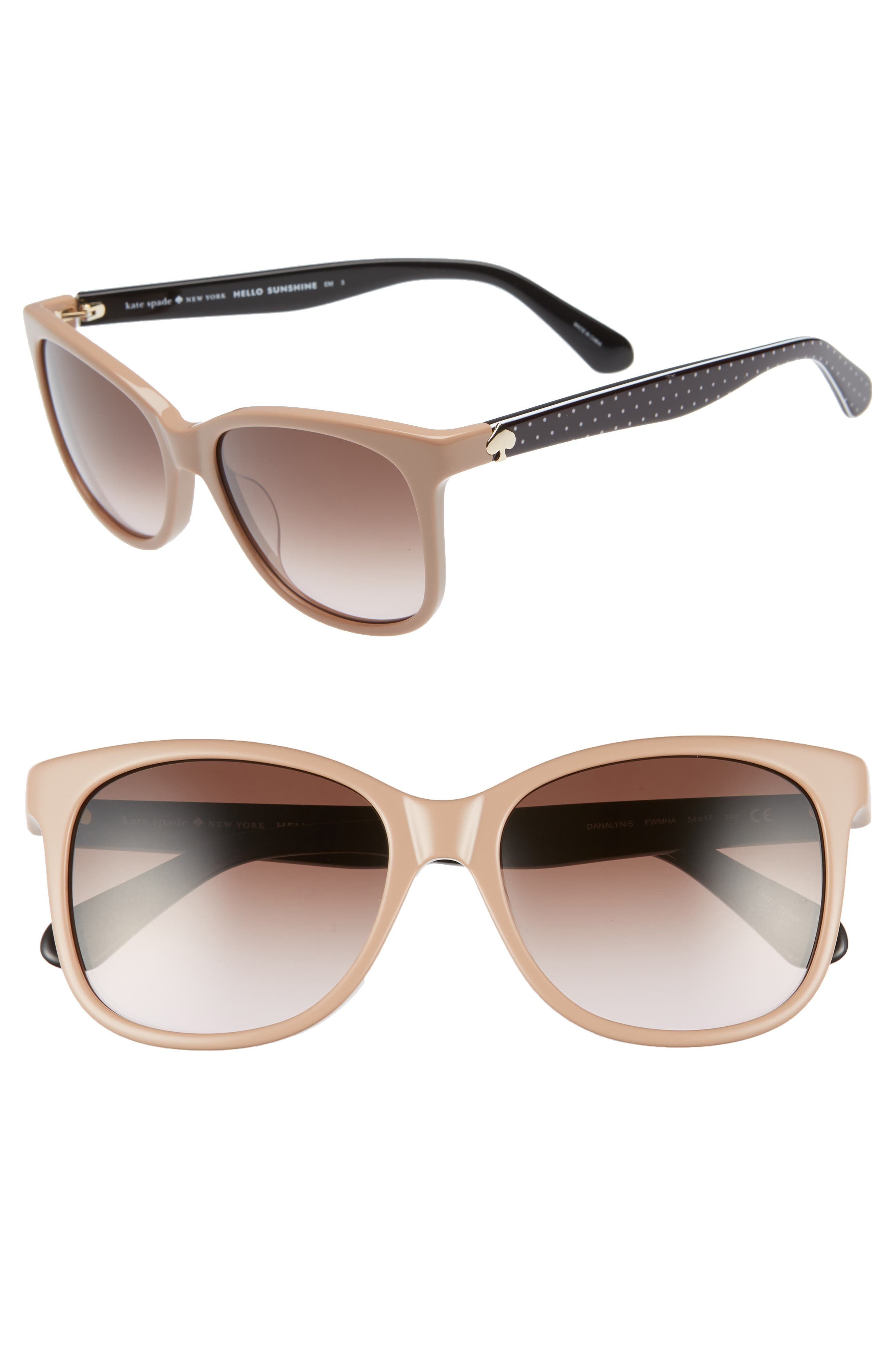 danalyns 54mm sunglasses,                         Main,                         color, NUDE