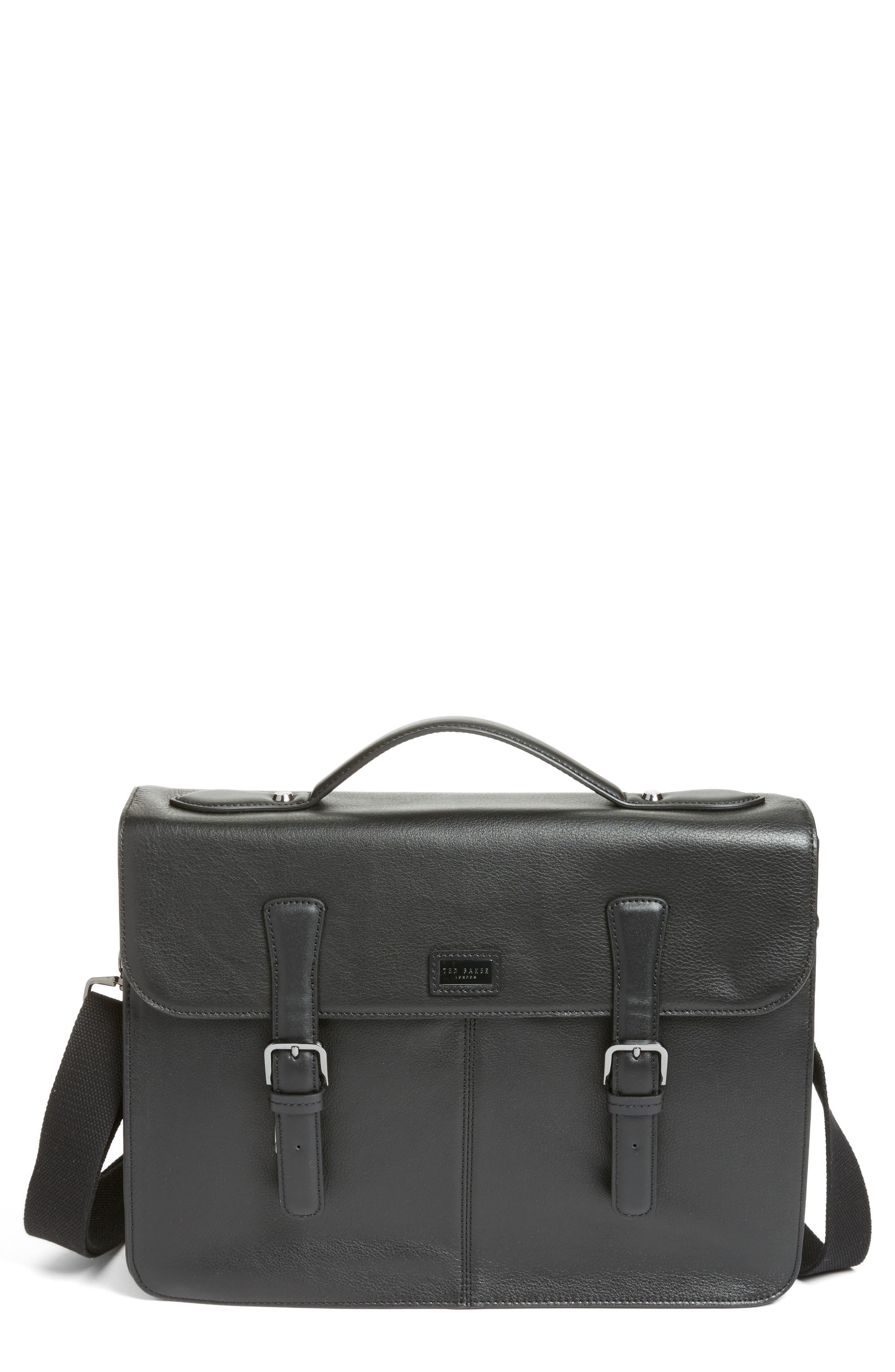 Bengal Leather Satchel,                         Main,                         color, 001