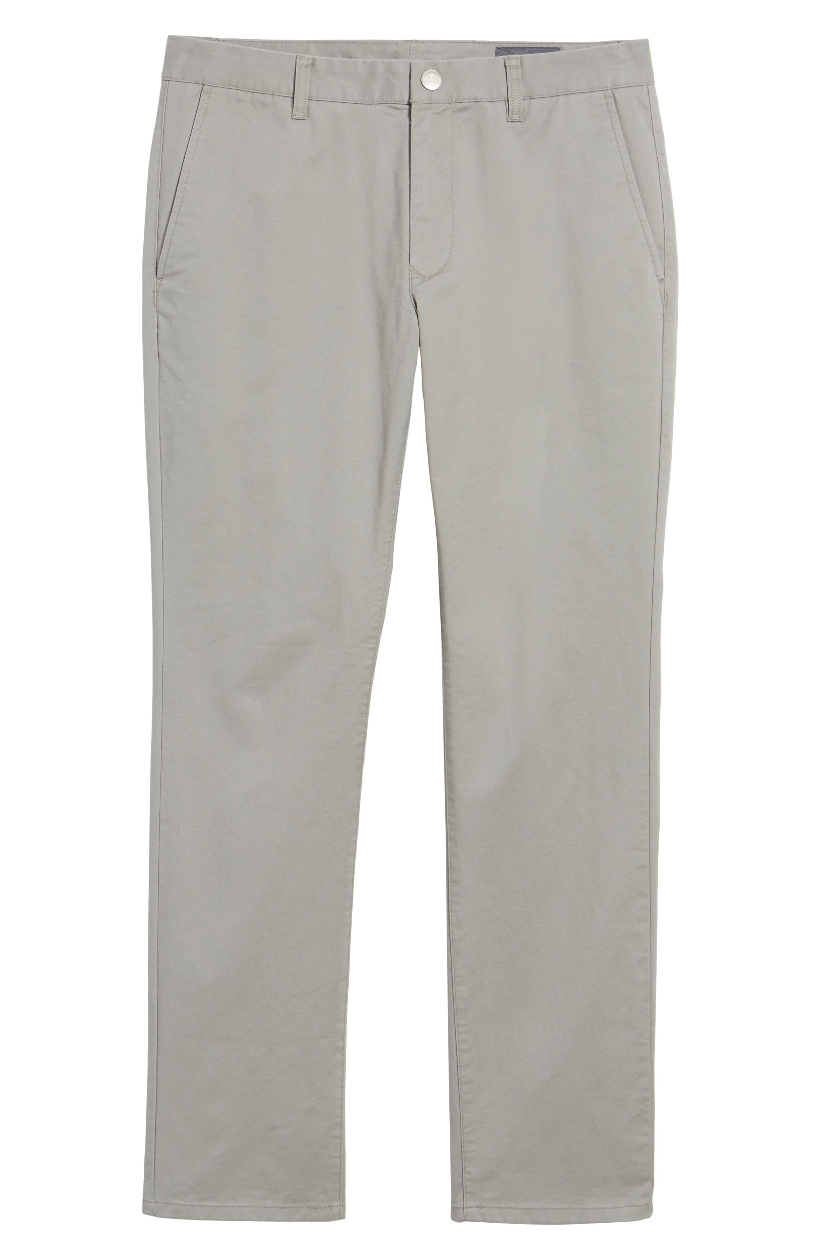 Tailored Fit Washed Stretch Cotton Chinos,                             Alternate thumbnail 196, color,